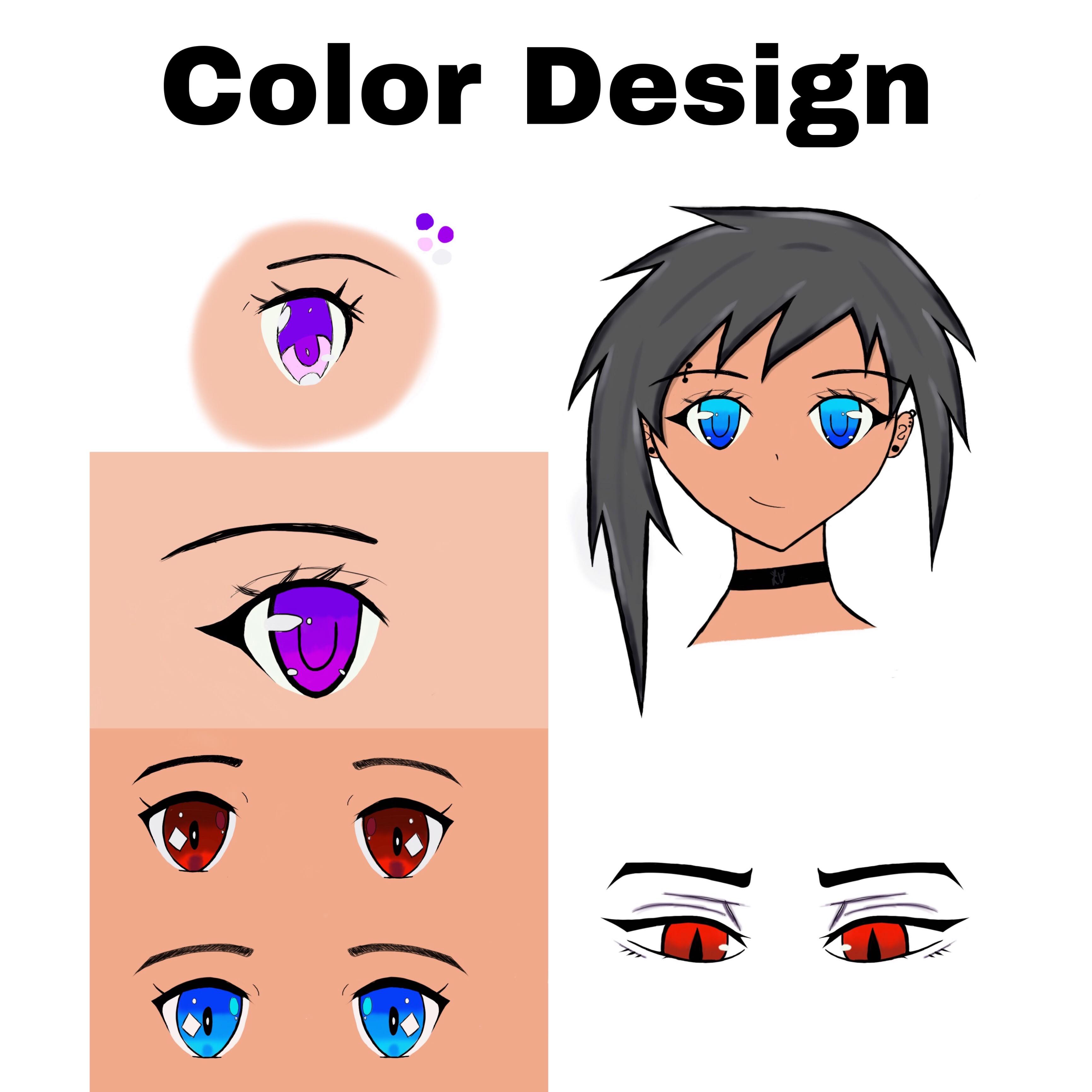 Draw Design Create Anime Eyes By Anime Lover98
