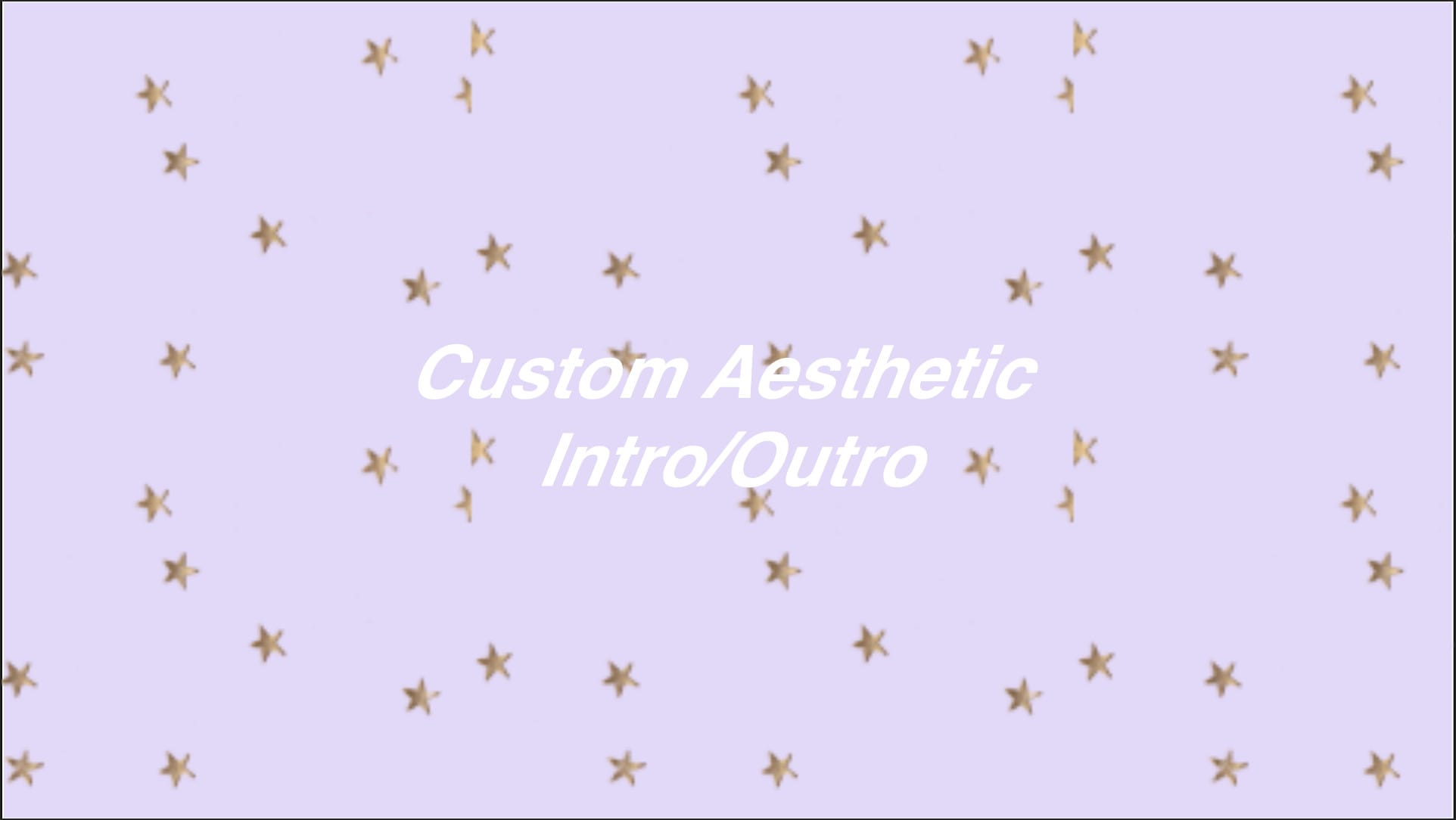 Make Custom Made Aesthetic Youtube Intros And Outros By Allie Edits