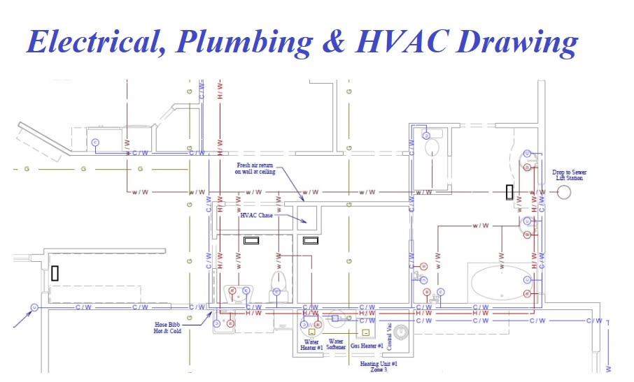 Draw and design your electrical, plumbing and hvac drawing by Tmraju1 |  Fiverr | Hvac Drawings Pictures |  | Fiverr