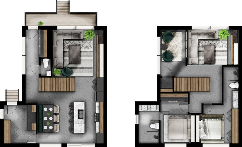 Do Photorealistic Photoshop Rendering Of Your Floor Plans By Magdesign Fiverr