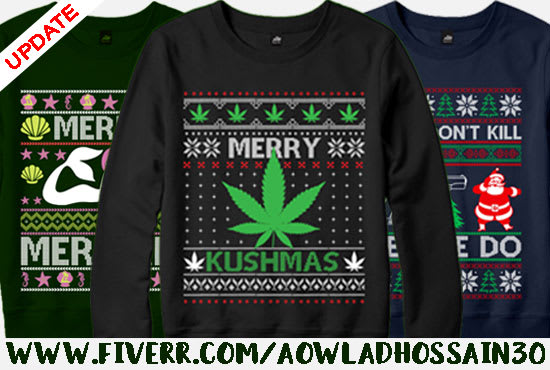 Do Ugly Christmas Sweater And T Shirt Design By Aowladhossain30,Graphic Design School Los Angeles