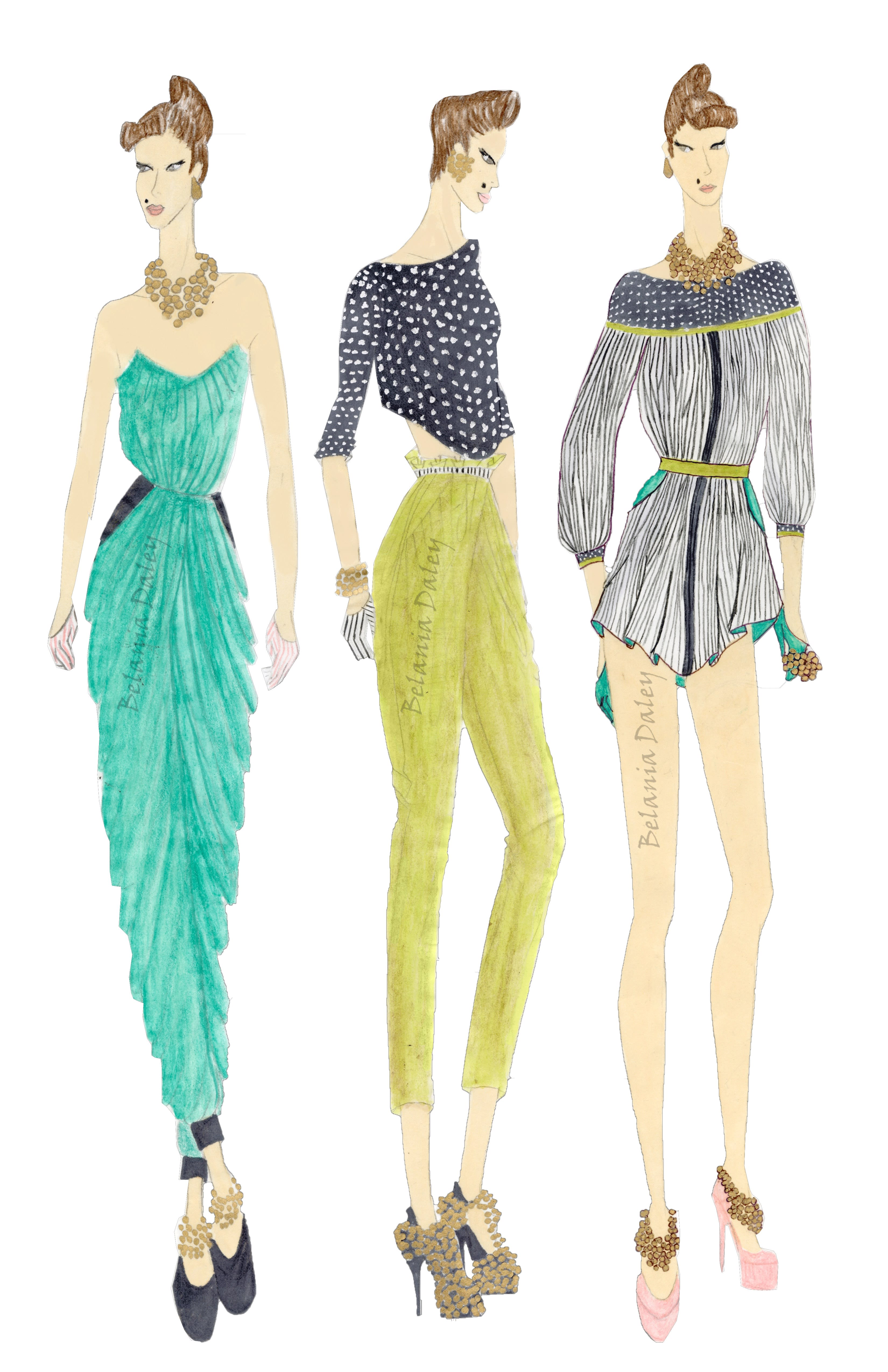 Sketch Fashion Illustrations For Design Development By Belaniadaley