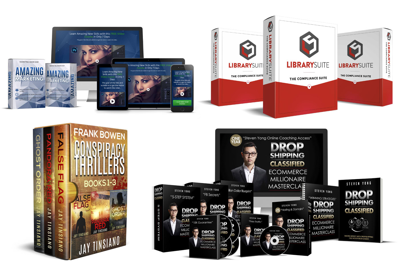 Design Software Box Book Cover Box Set Ebook Dvd Cd Online Course Bundle By Goliwog