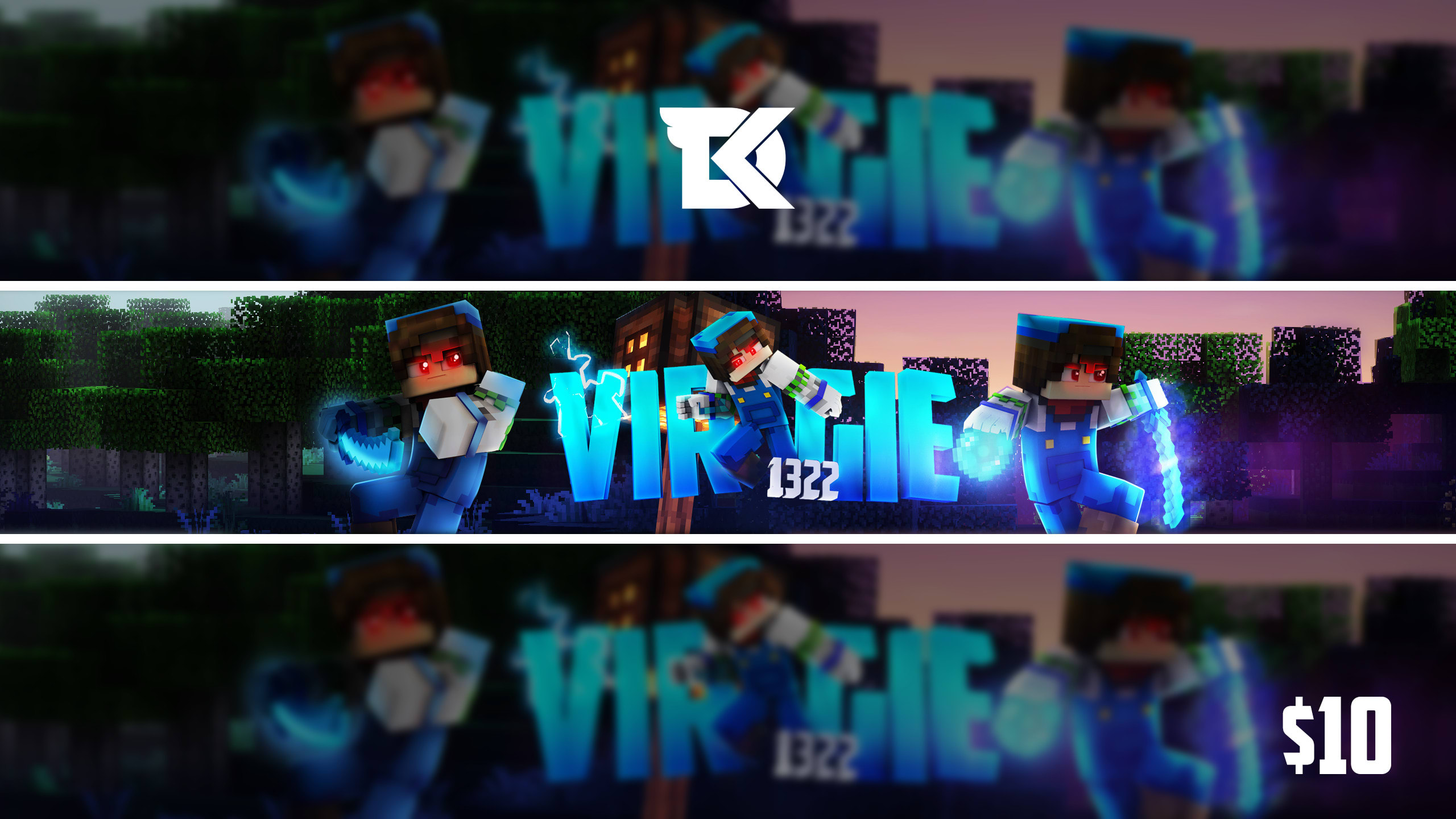 Design An Awesome Minecraft Youtube Banner By Dikefx