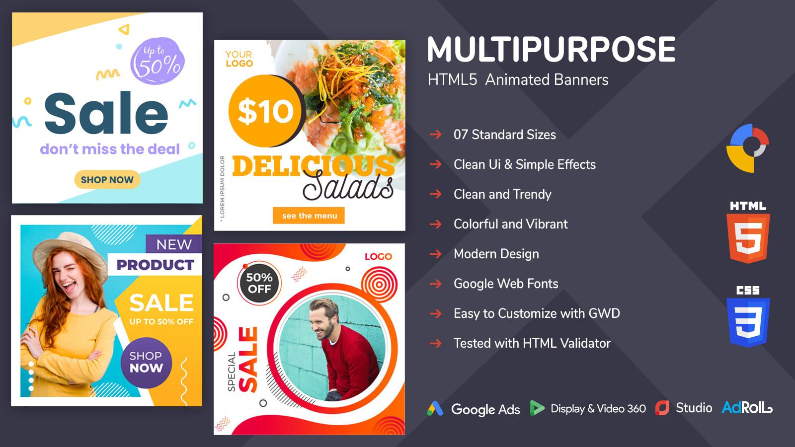 Design Animated Html5 Banner Ads For Google Adwords By Khuramjameel
