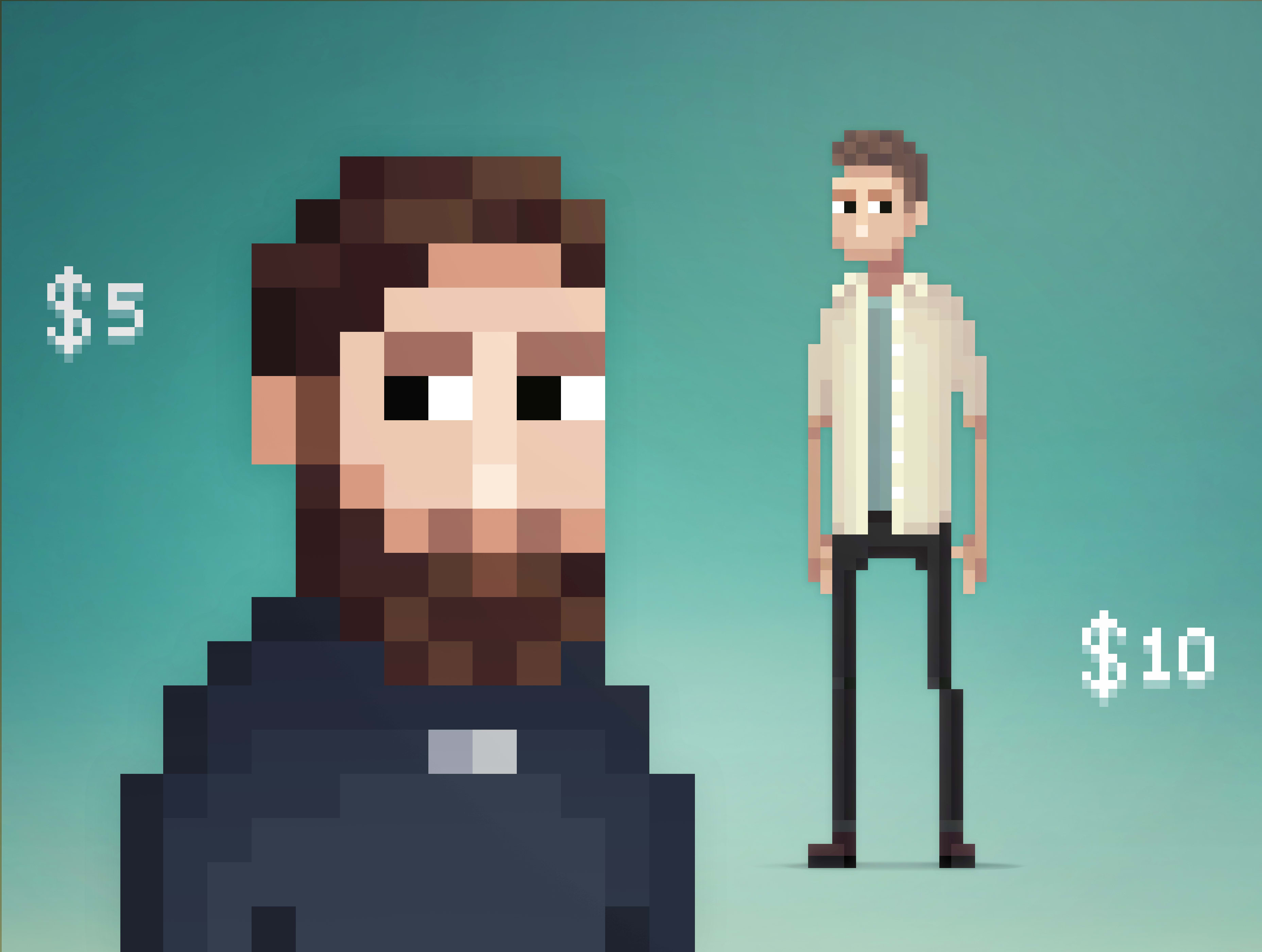 Make Pixel Art Portraits In My Pixelart Style By Leeoccleshaw
