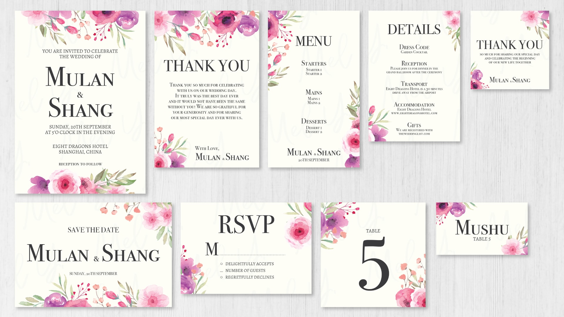 Design a floral wedding invitation card for you in 2 days by ...