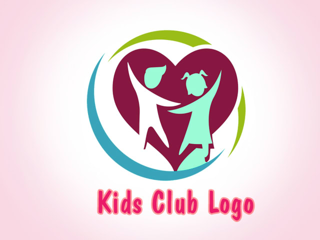 Make High Resolution Kids Club Logo Design With Free Source Files By Sanorawoltman10