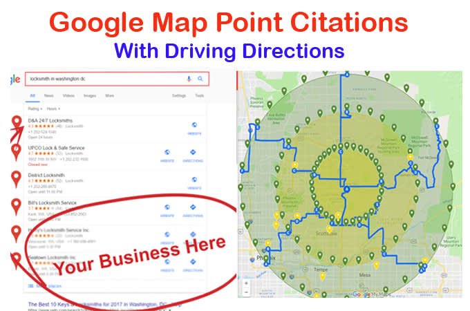 create 300 map point citations with driving directions on maps get directions, maps maps google, maps satellite view google, maps history google,
