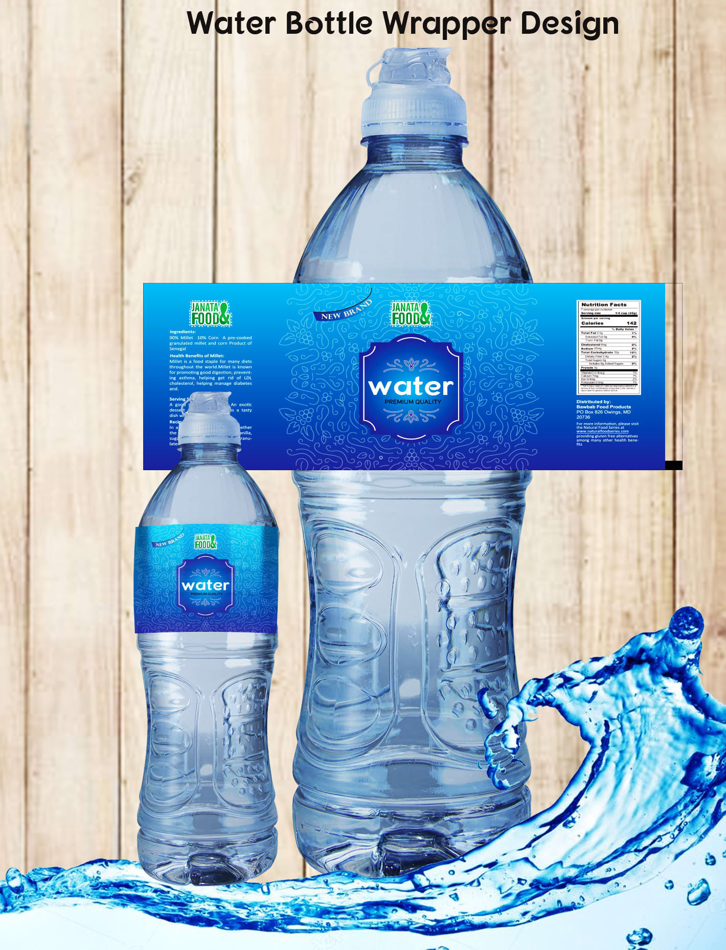 Do Water Bottle Label Design By Janatagraphics