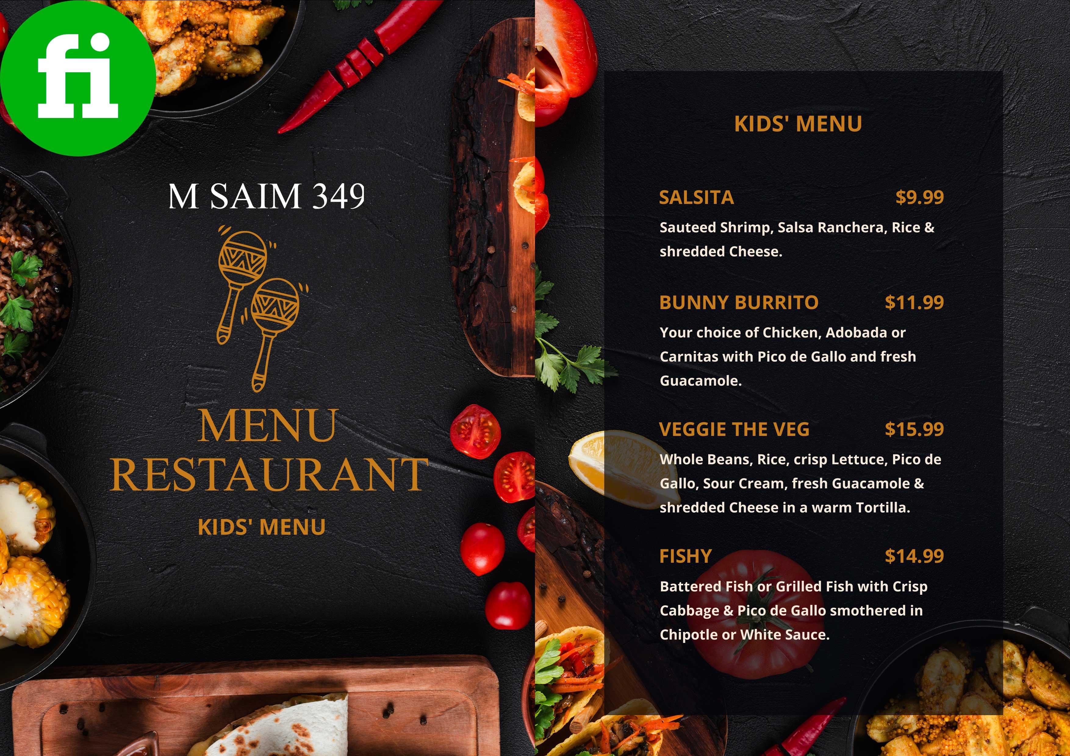 Elegant Restaurant Menu Arranged Size And Style By M Saim349