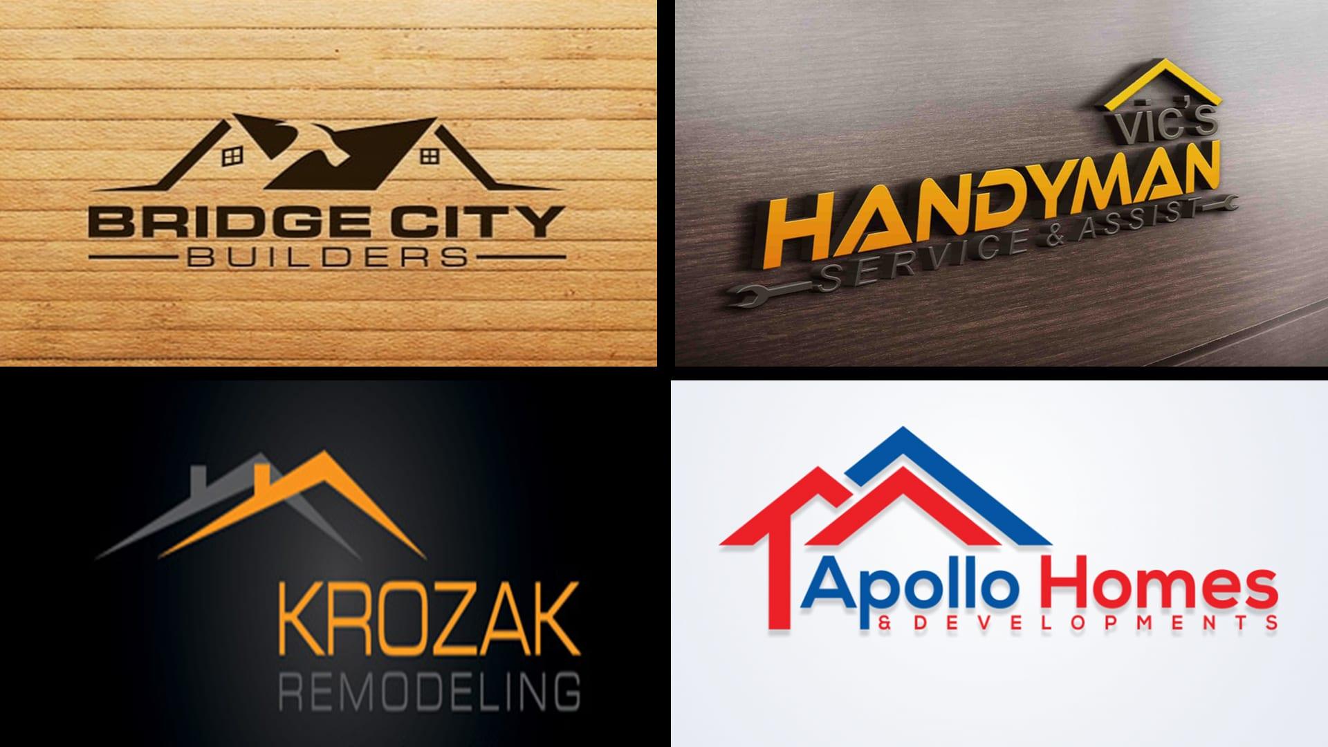 Design elegant home renovation decor and handyman logo by Moobadesigns