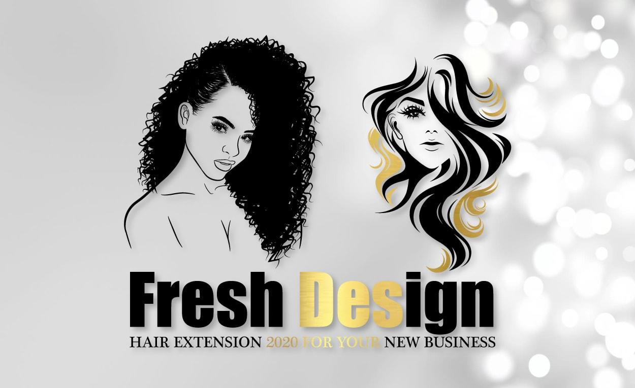 Design 2 Hair Extensions Beauty Hair Salon Logo In 8hrs By Ashi Mughal