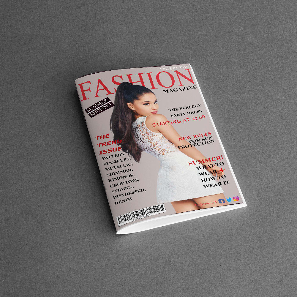 Design Foodie Sports And Fashion Magazine Cover Layouts By Sana Alvi