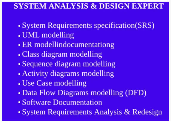 Help In System Analysis Works And Any Research By Fahadkhan002
