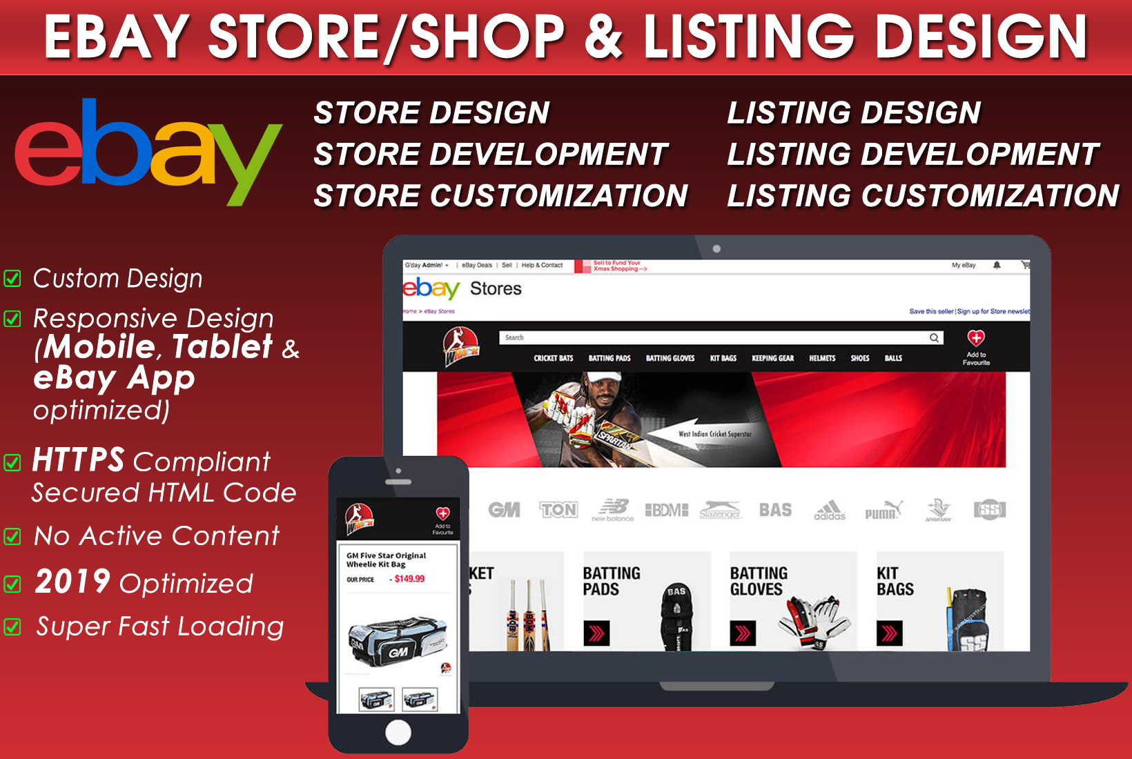 Design Custom Ebay Store And Responsive Listing Template By Sandy7452