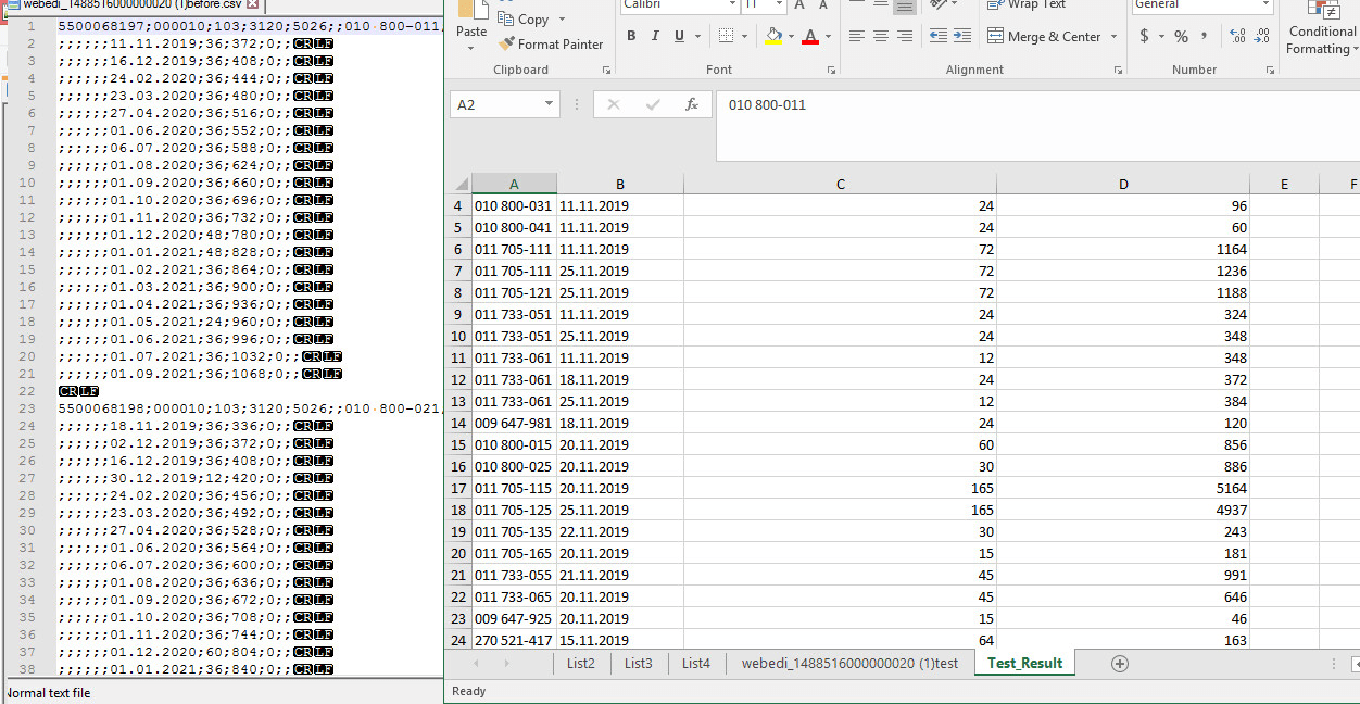 cleanup sort organize data in