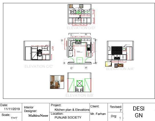 Design Kitchen Cabinets Layout And Model By Mahiranoor