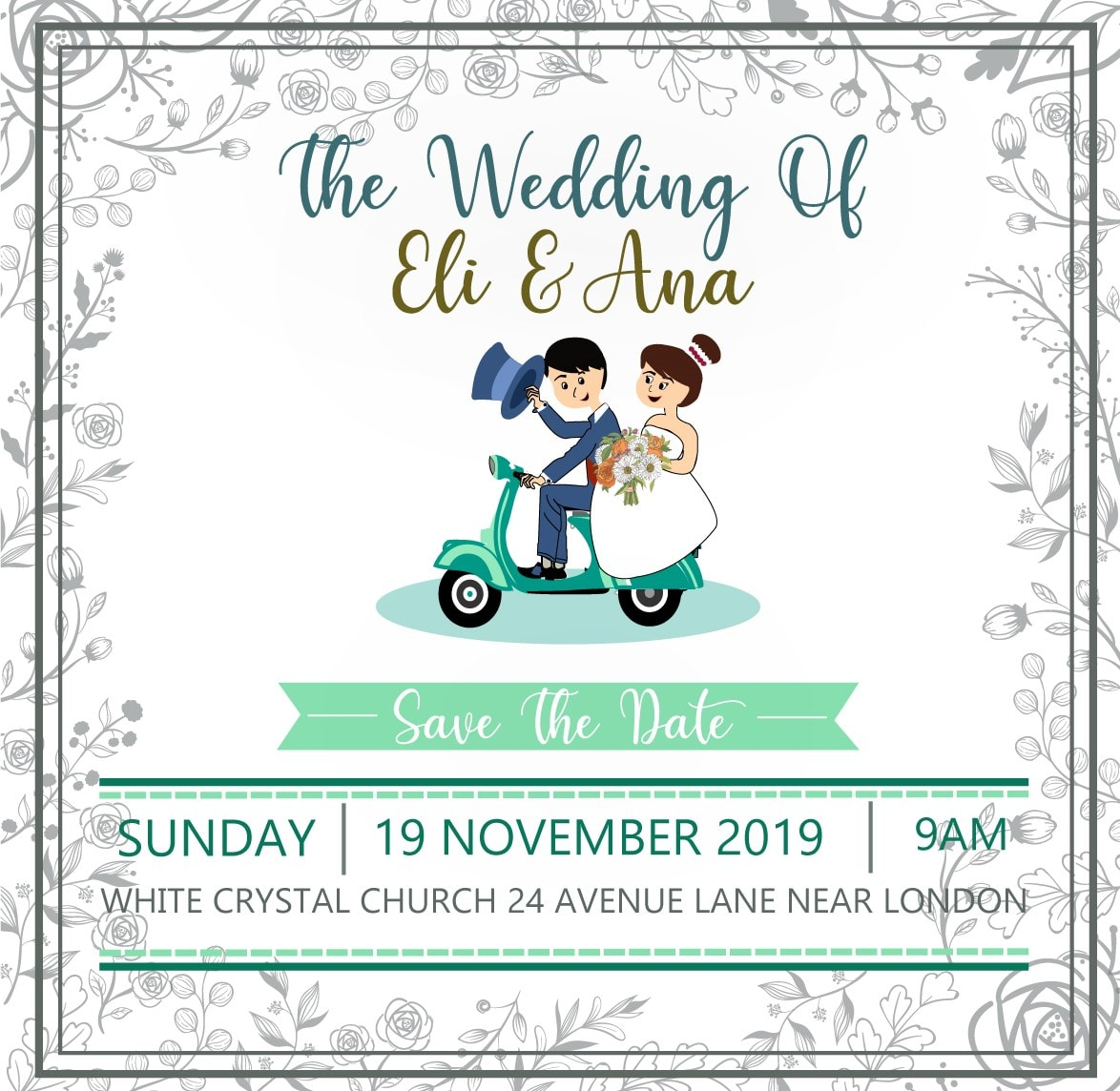 Design Cute Caricature Wedding Cards And Party Invitations By
