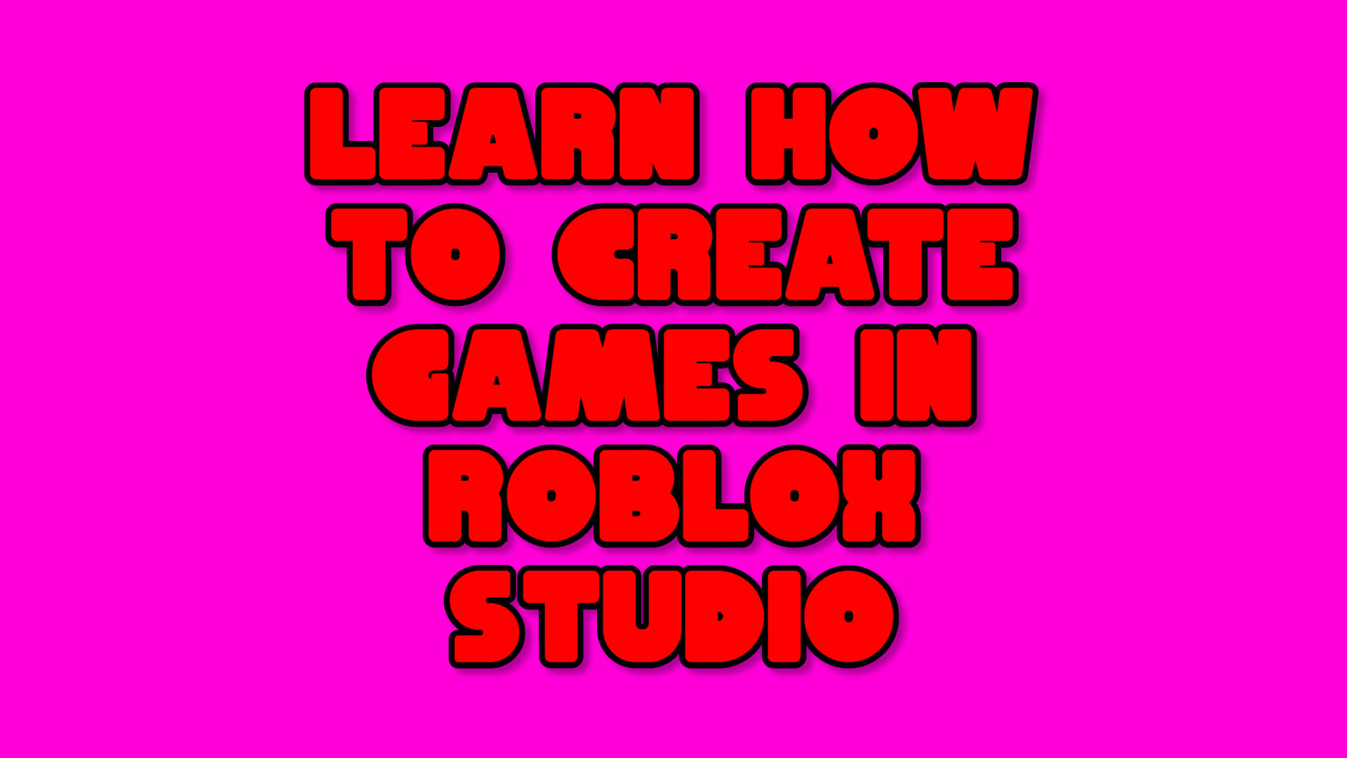 Teach you how to create games in roblox ...