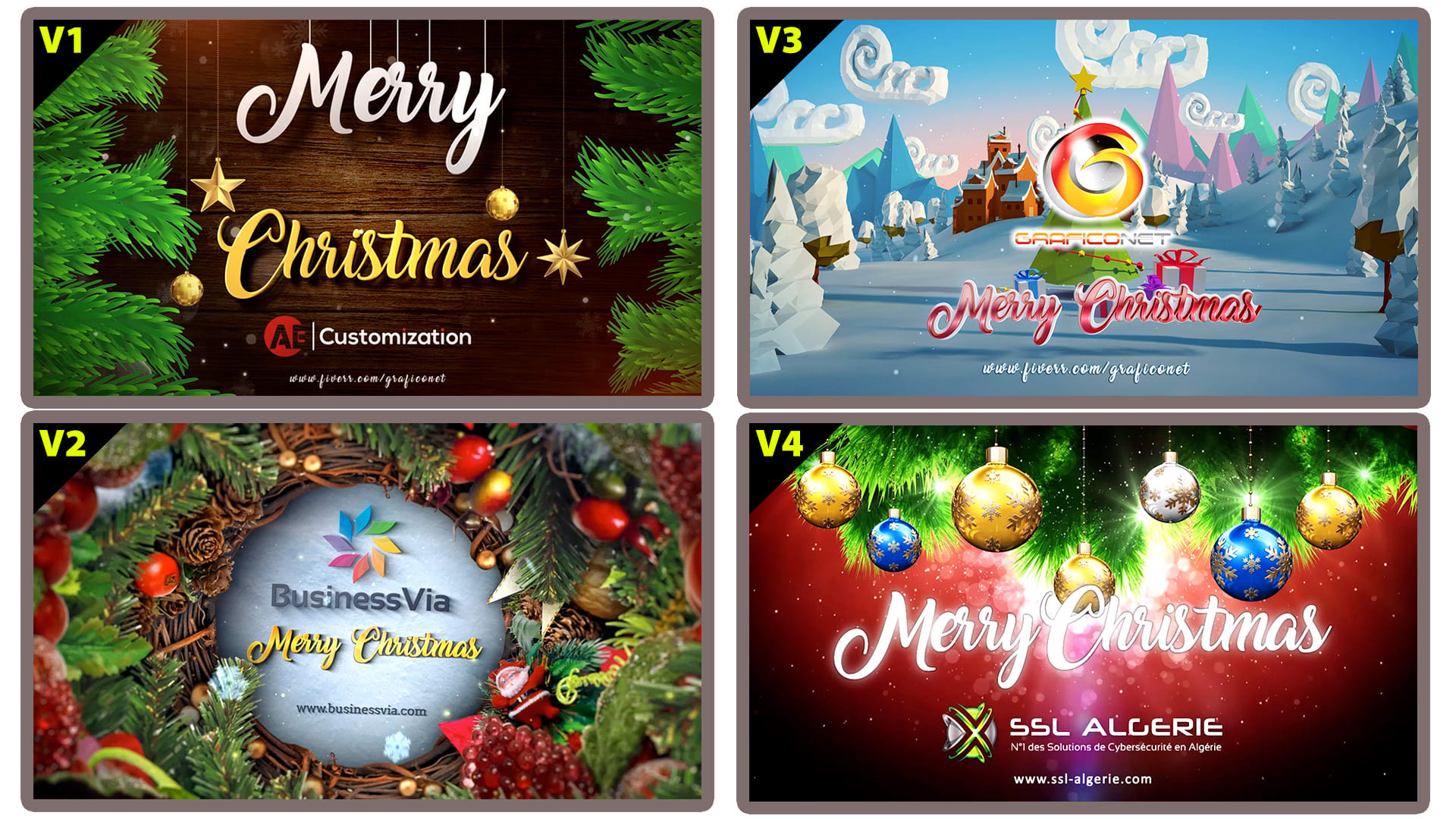 Make merry christmas video greeting by Graficonet