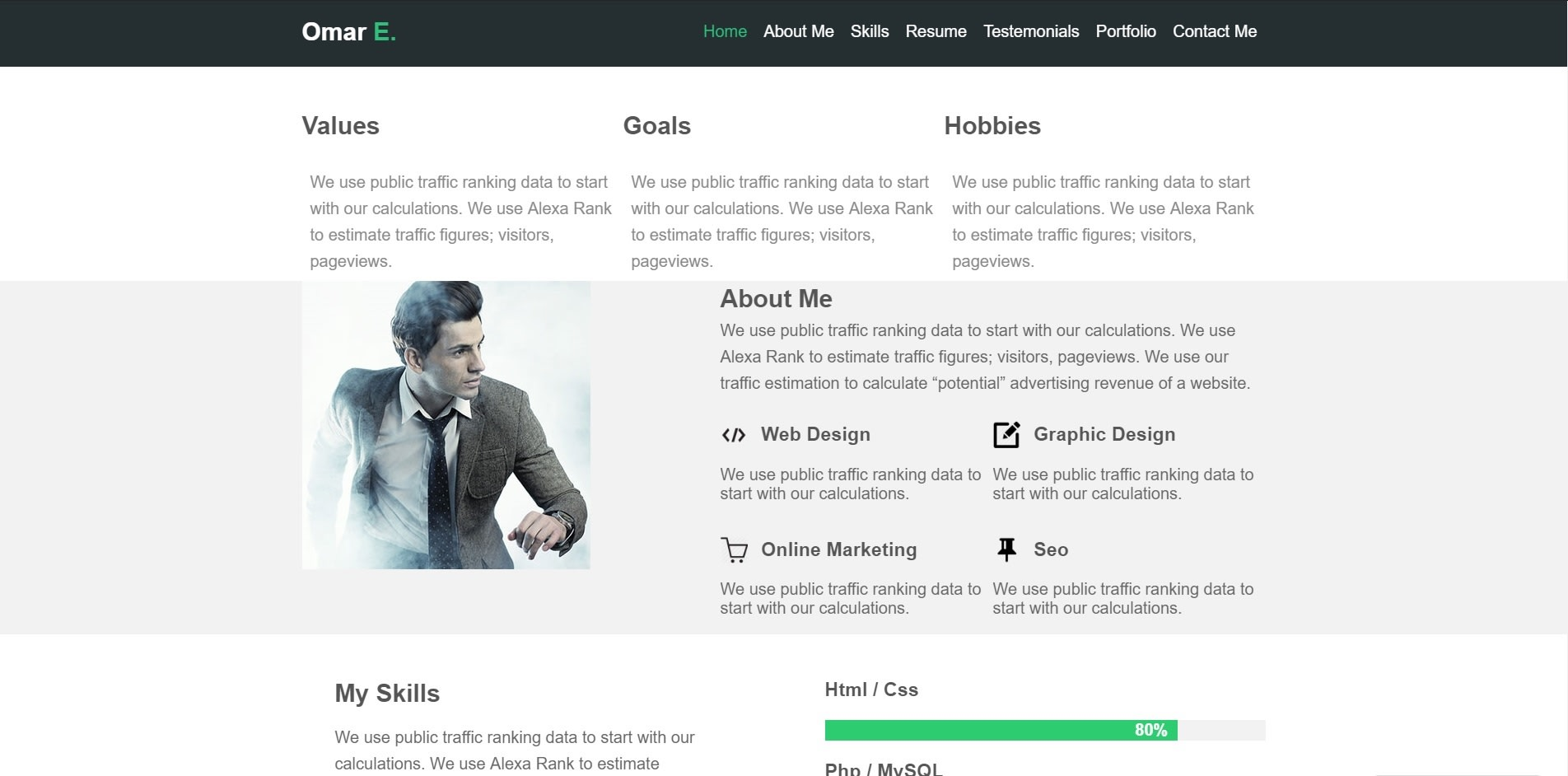 Design A Good Website Using Html And Css With Good Style By Omaressam2
