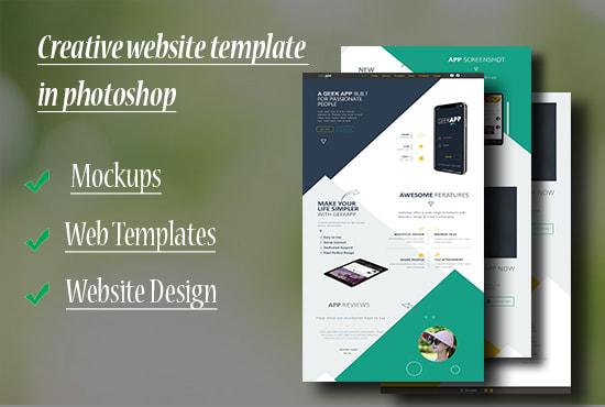 Design A Creative Website Template In Photoshop By Uzairhashmi904
