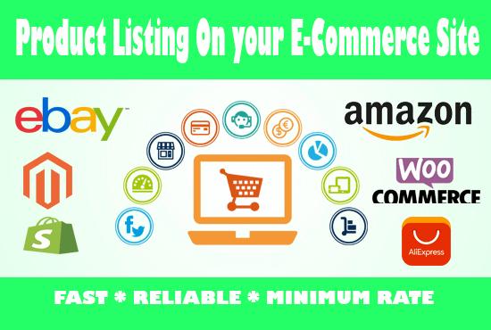Upload Products On Your Amazon Shopify Ebay Magento Woo Commerce Store By Hisamlogo