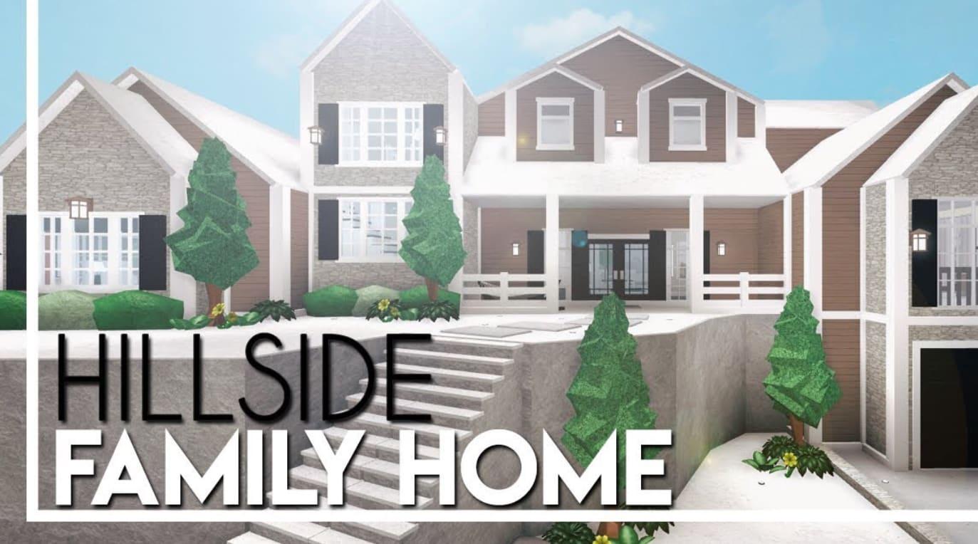 Build A Hillside Roblox Bloxburg 138k House By Xrobloxbuildzx
