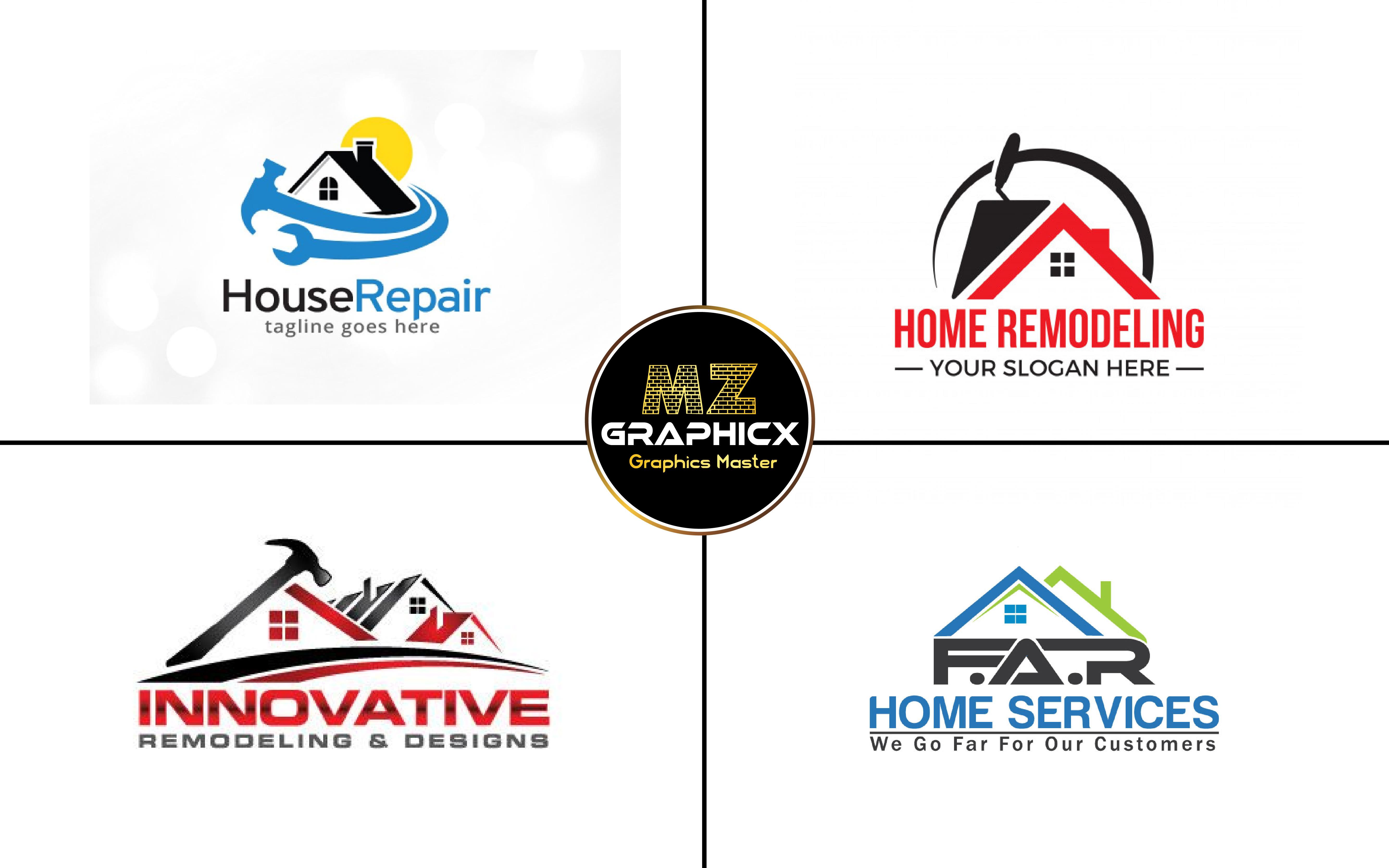 Design Unique Home Decor Or Handyman Logo By Mzgraphicx