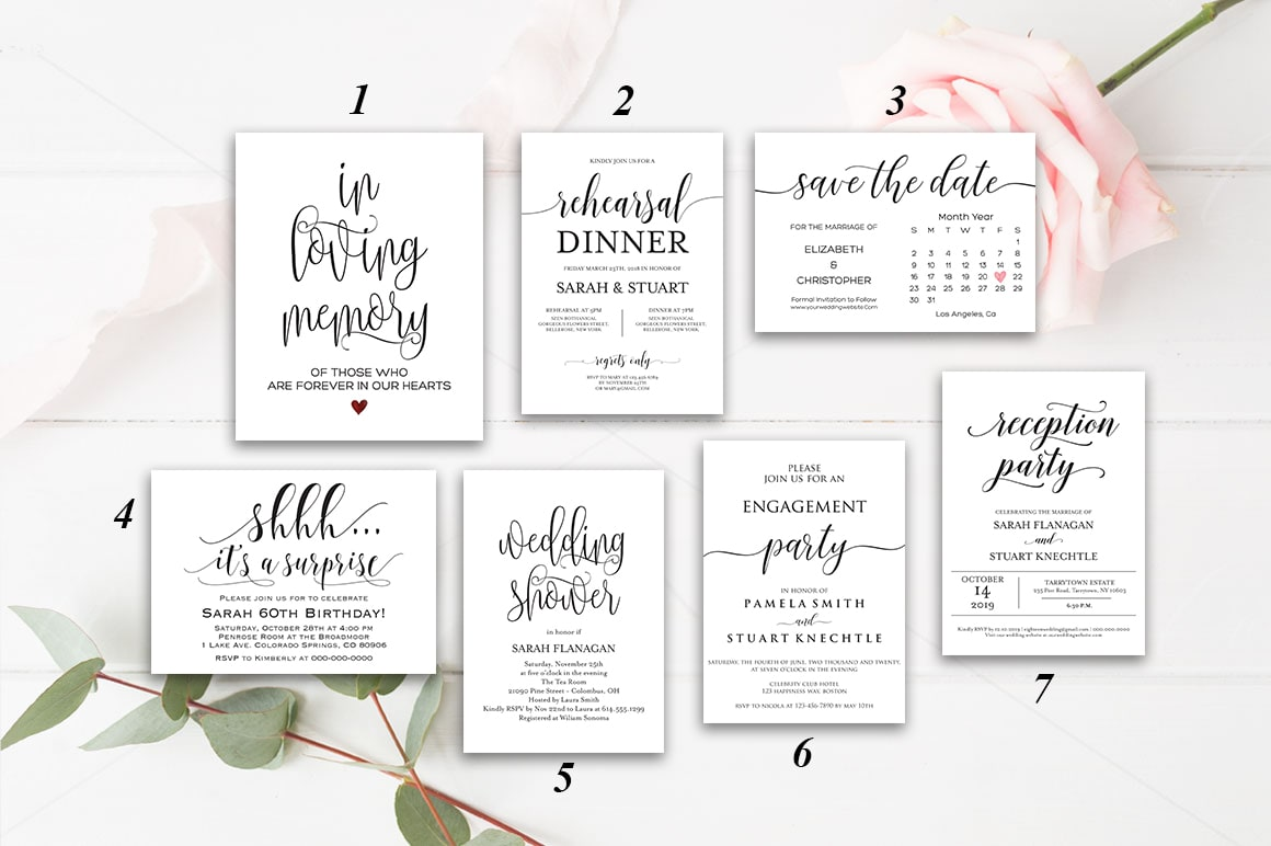 A collection of high quality invitations, various categories by  Eighteenwedding