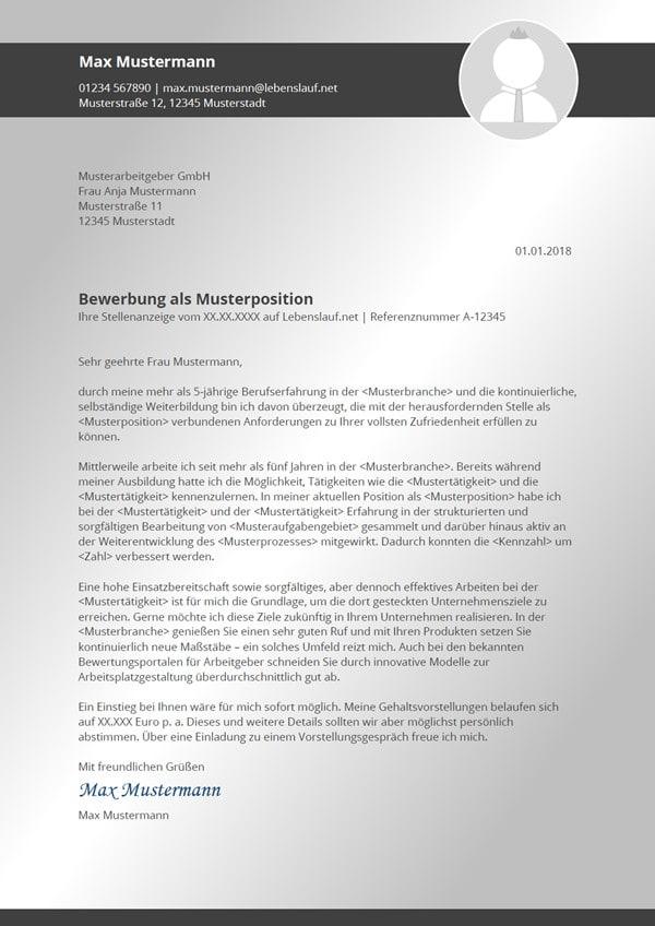 Bewerbungsvorlagen Kostenlose Vorlagen Zum Download 2