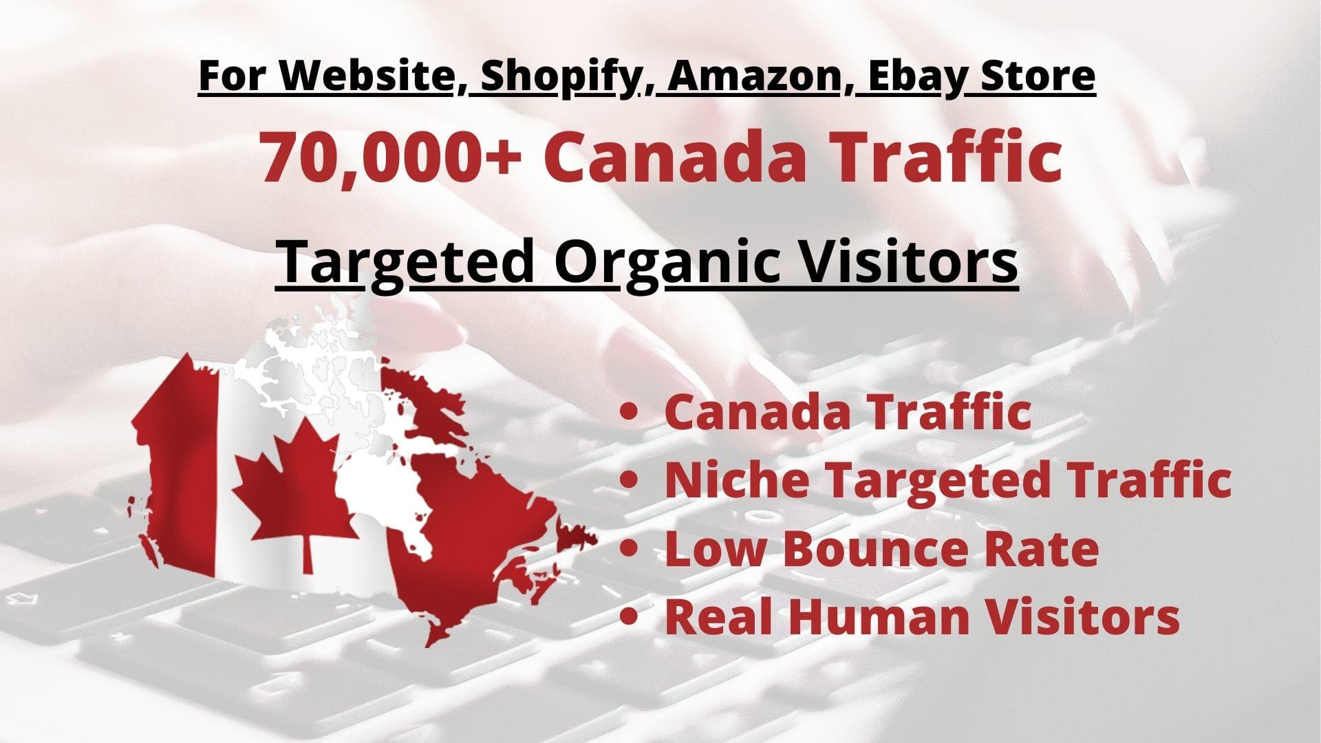 Drive Canada Niche Traffic To Website Amazon Ebay Shopify By Trafficarmy