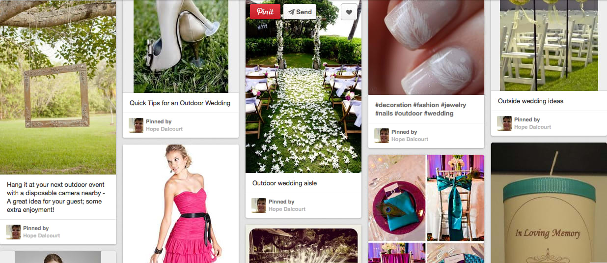 2a8c7be1de6 I will create an online pin board on pinterest full of wedding ideas for  your wedding