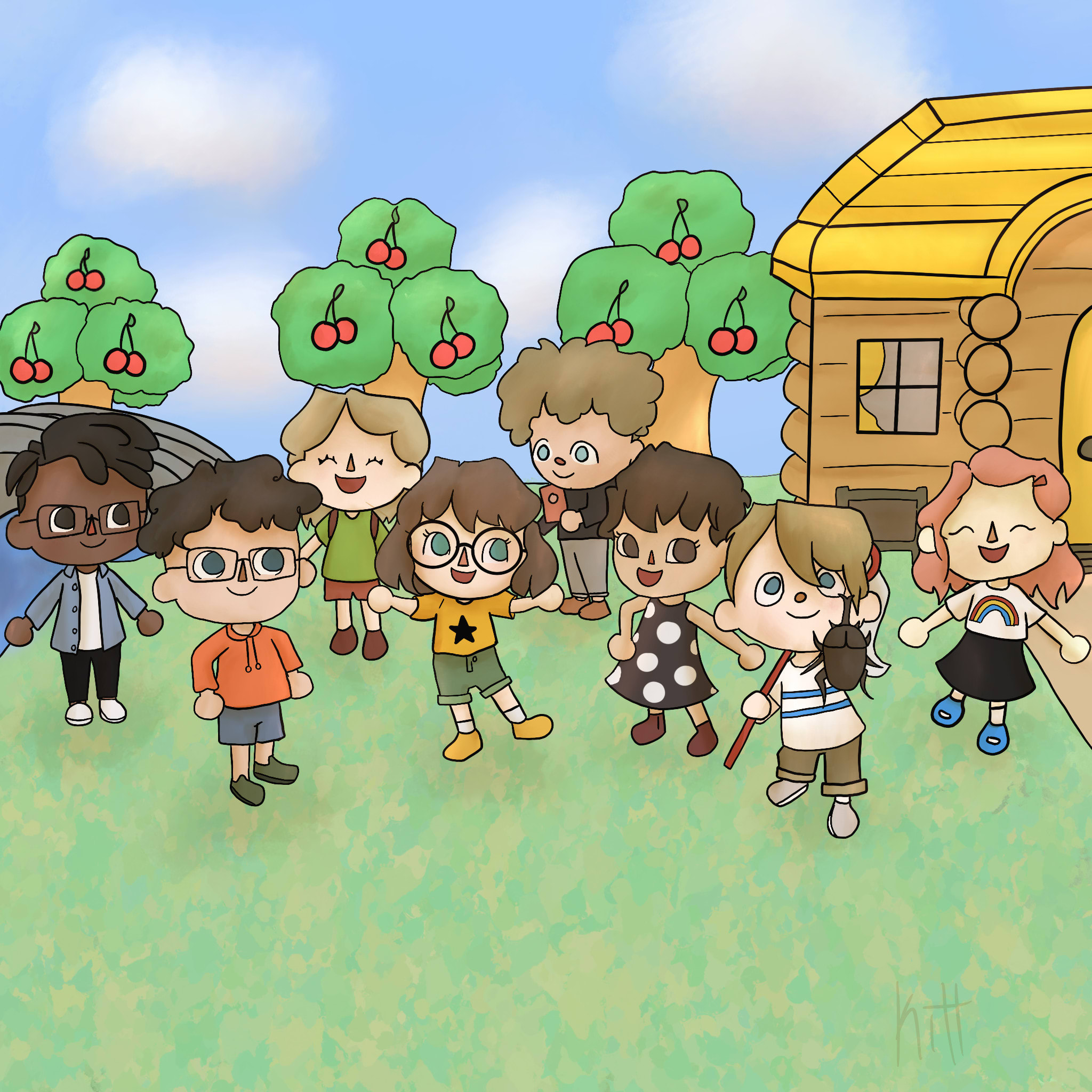 Draw In An Animal Crossing Style By Kitgoshdarnit