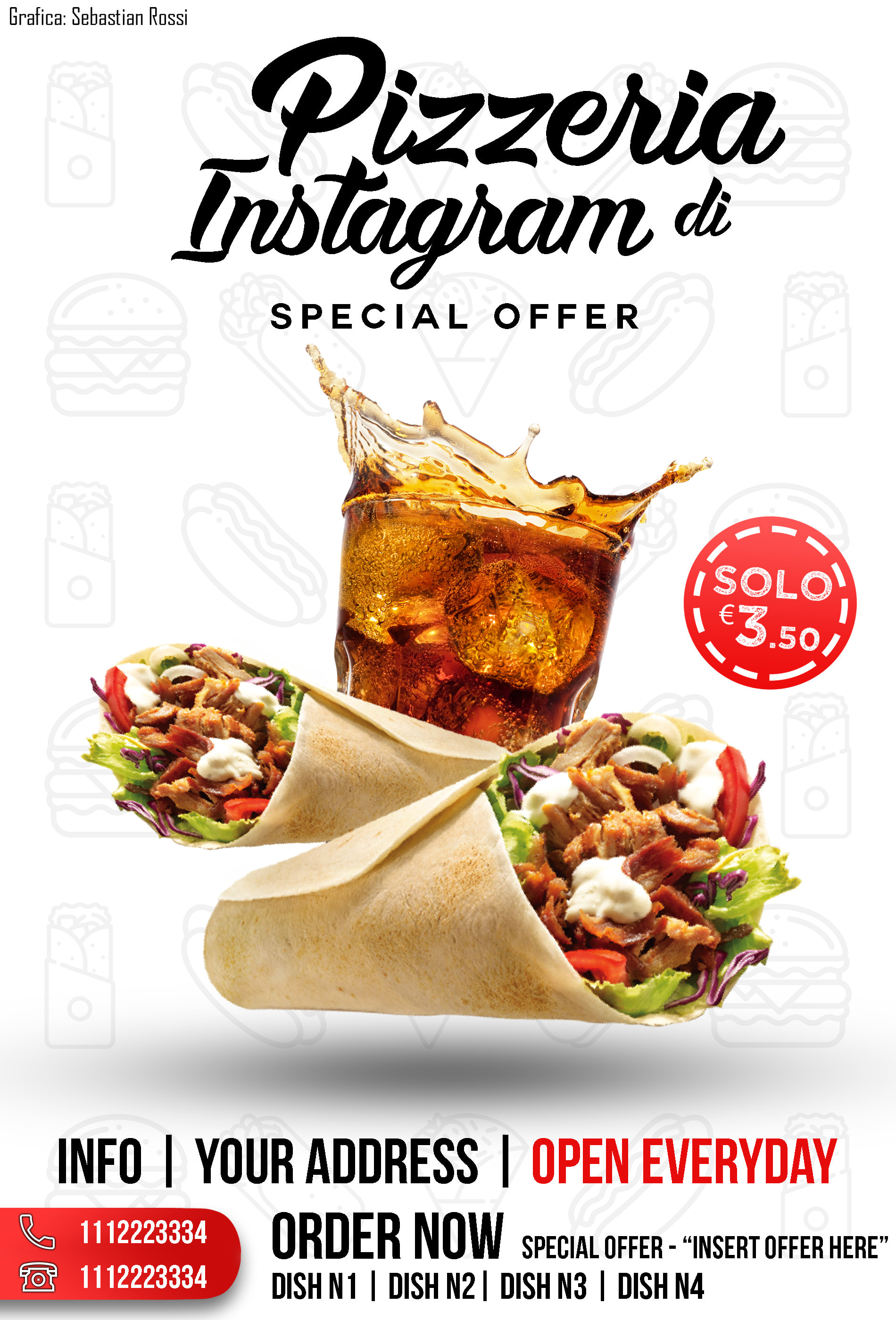 Create An Awesome Flyer For Your Restaurant By Sebastiaann