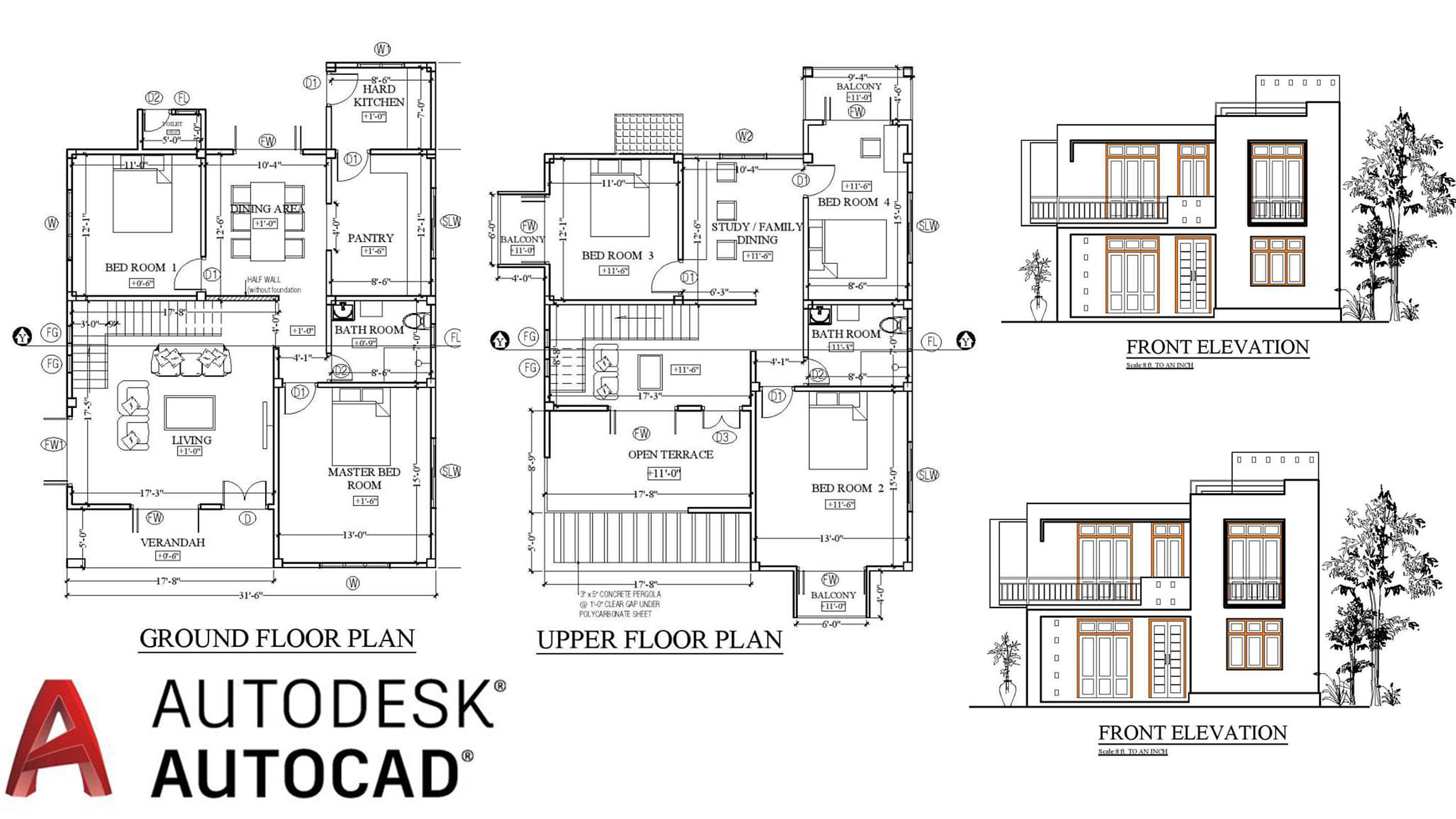 Draw Your Floor Plan Elevation Section And Convert Pdf Or Sketch In Auto Cad By Davidricher94 Fiverr