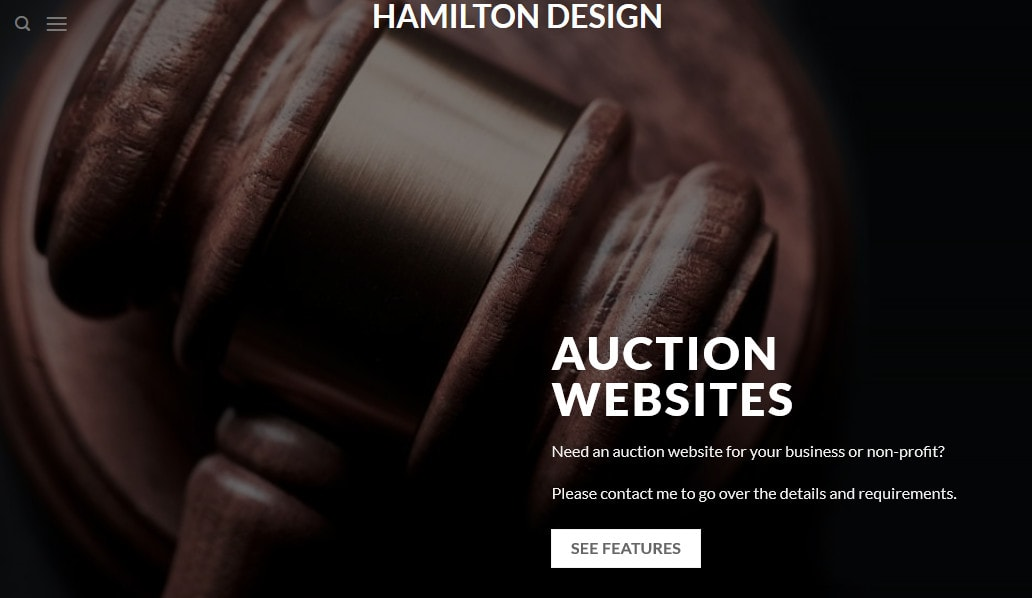 Design A Wordpress Auction Website For Your Business Us Seller By Hamilton Design