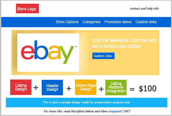Design Ebay Store Just At Low Cost By Myspace7