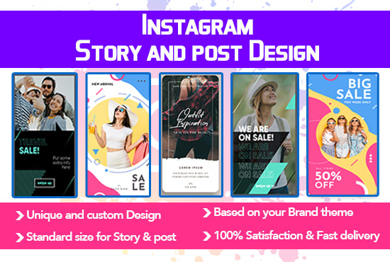 Design Awesome Instagram Story And Feed Post In 24 Hours By Bd Designzone