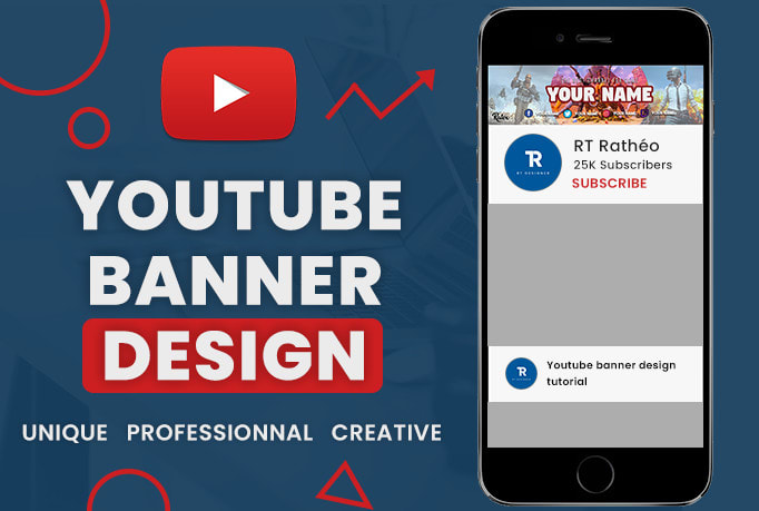 Design Creative Youtube Banner By Ratexrolix