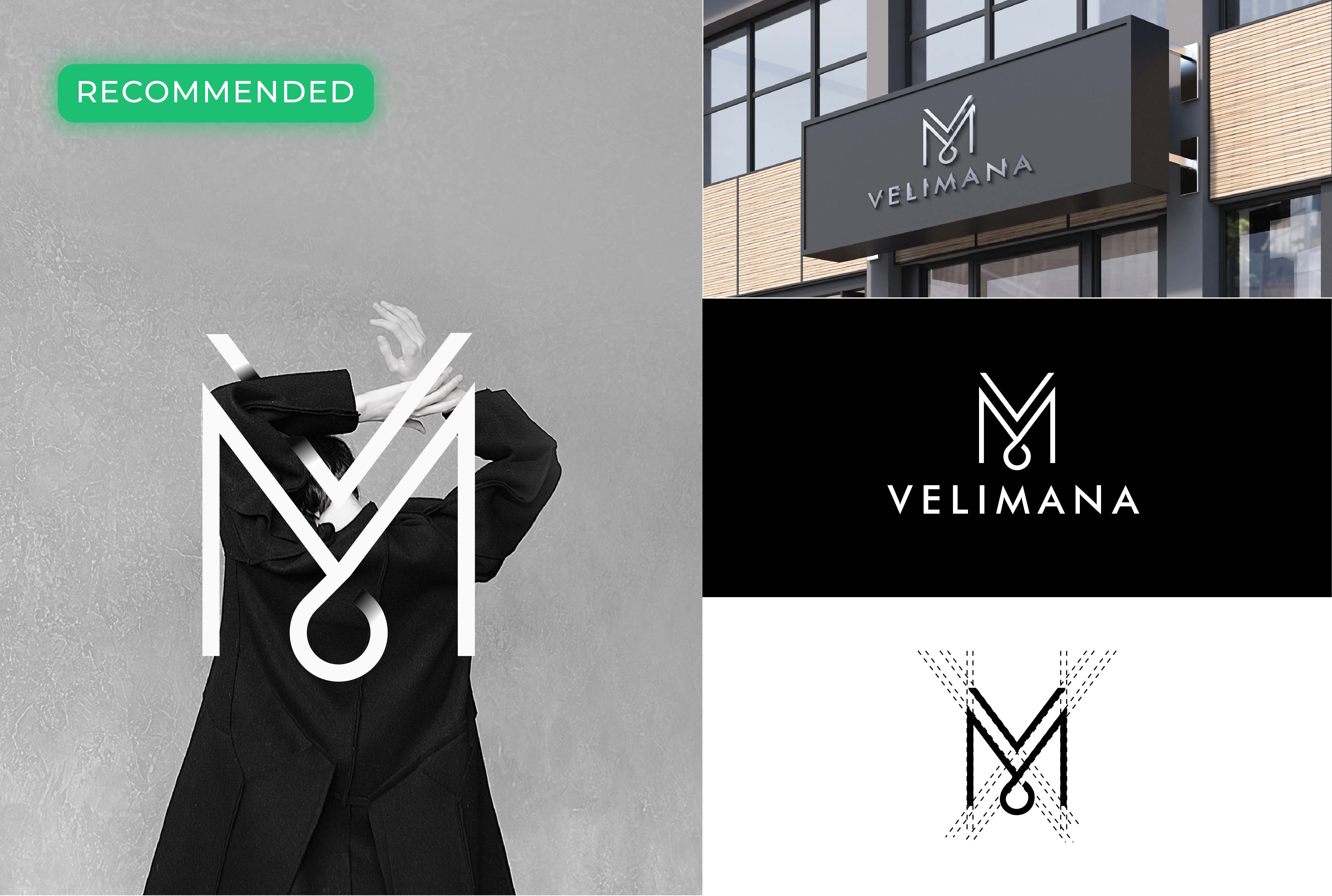 Design Monogram Initial Fashion Clothing Logo For Less Money By Haidaralwi