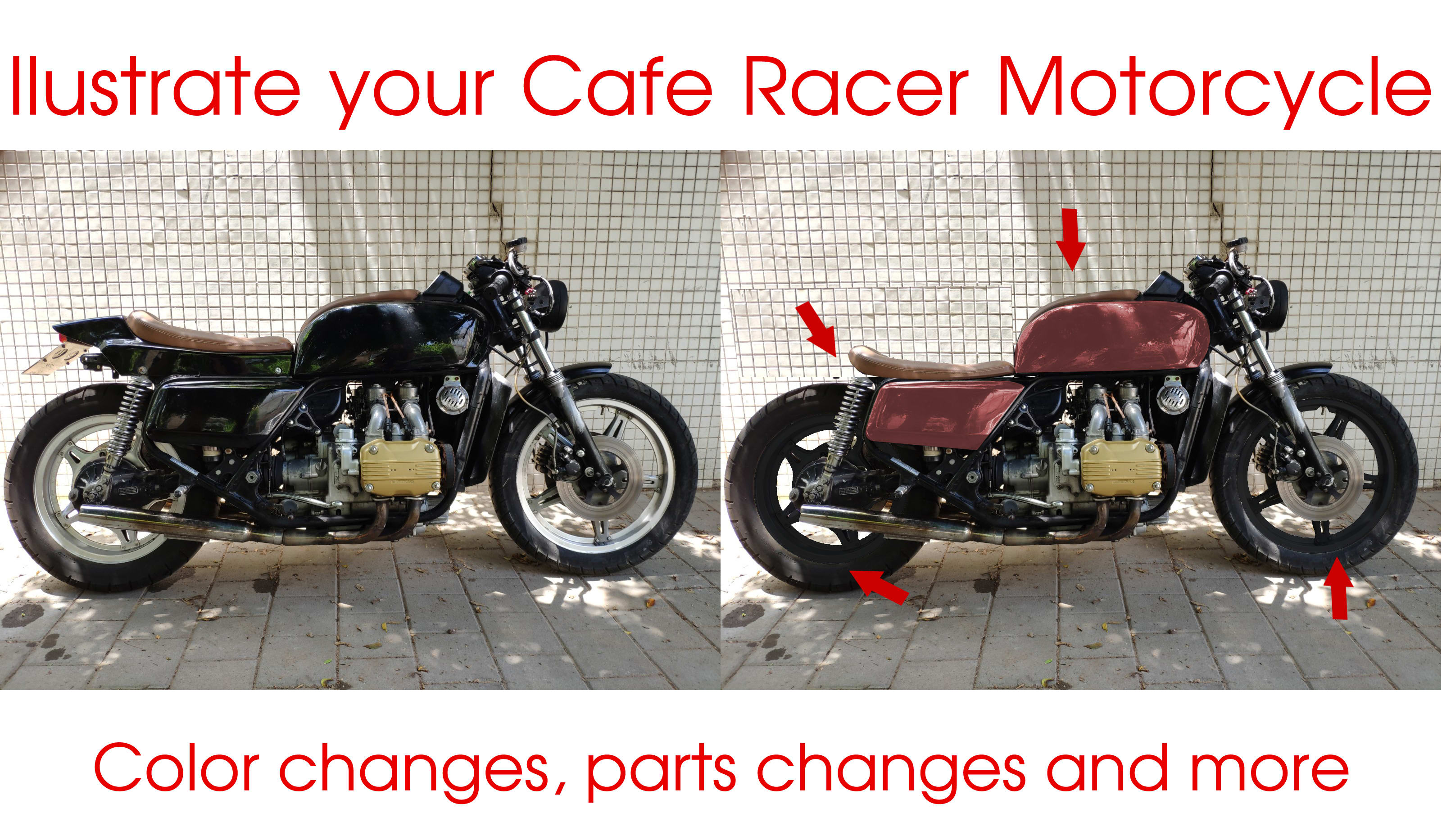 Illustrate And Visualize Your Motorcycle Cafe Racer Design By Diecastben