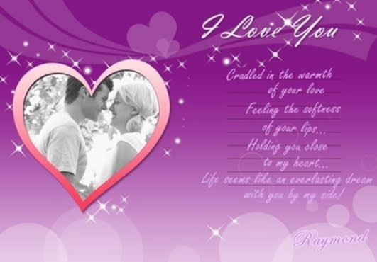 I Will Produce A Creative Valentines Greeting Cardsbirthday Cards With Your Lover Photo And Name