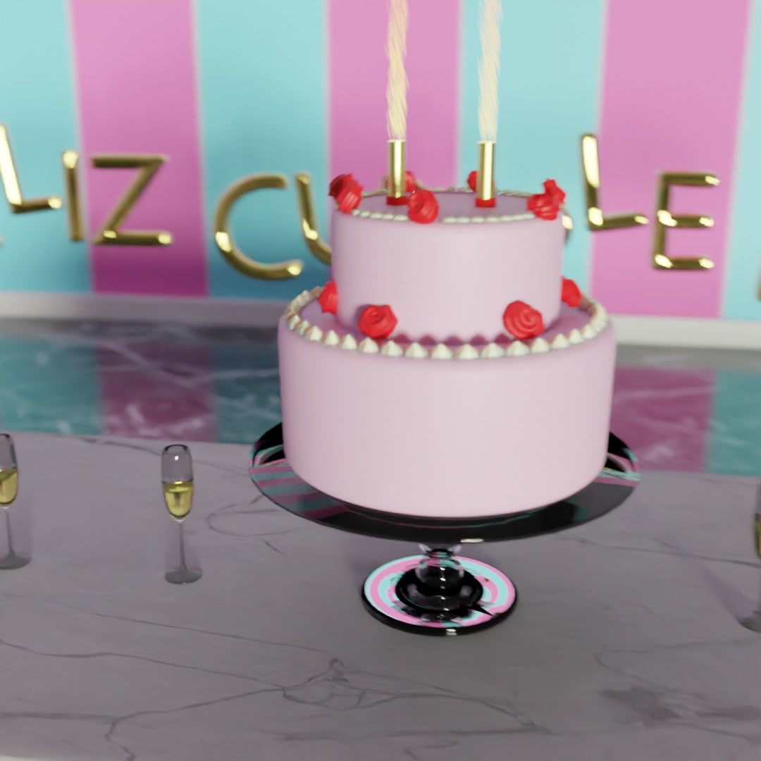Brilliant Make A Birthday Cake 3D Video With Music Background By Jess25V Funny Birthday Cards Online Eattedamsfinfo