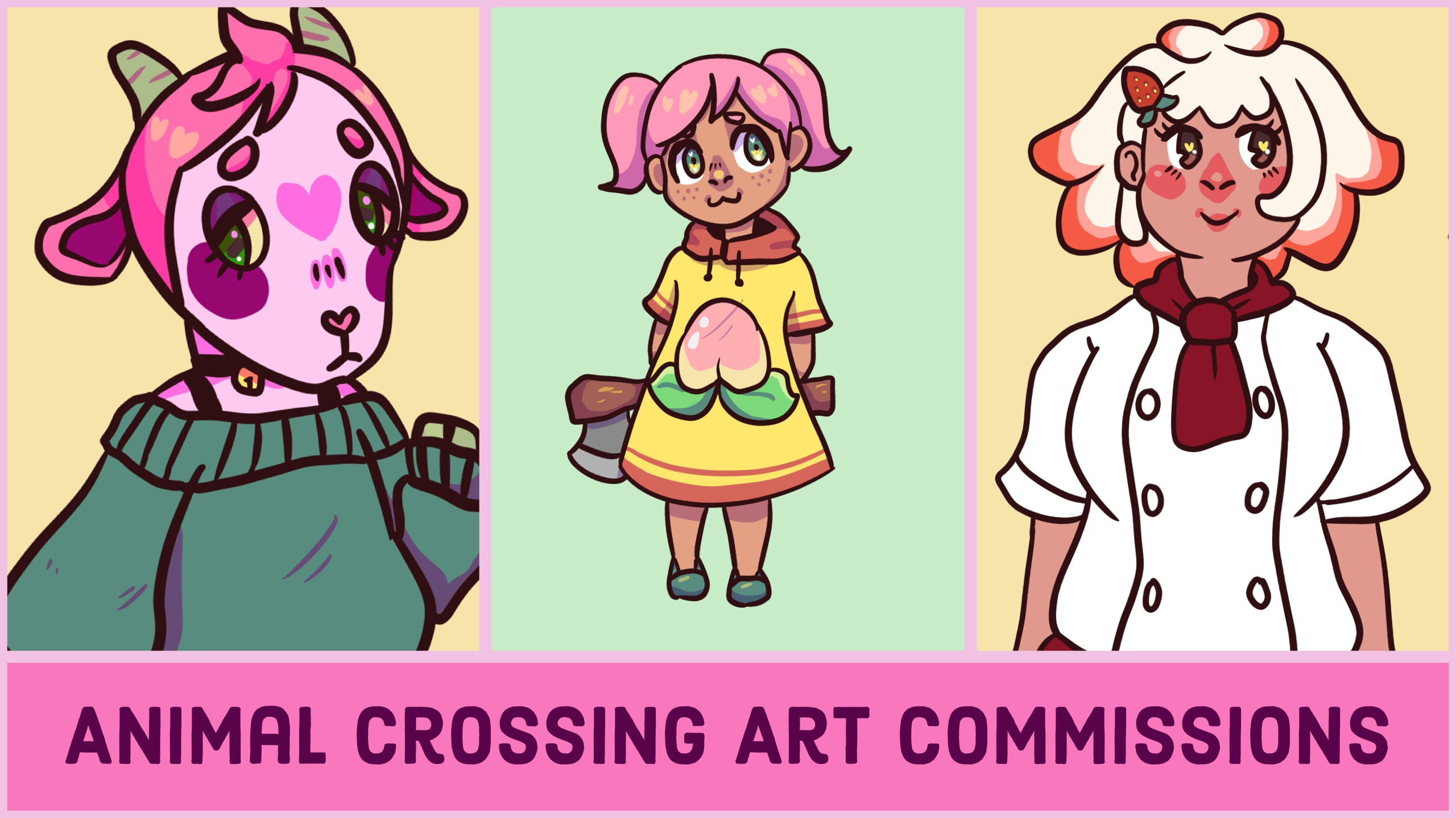 Make Cute Animal Crossing Art Of You Or Your Favourite Villager By