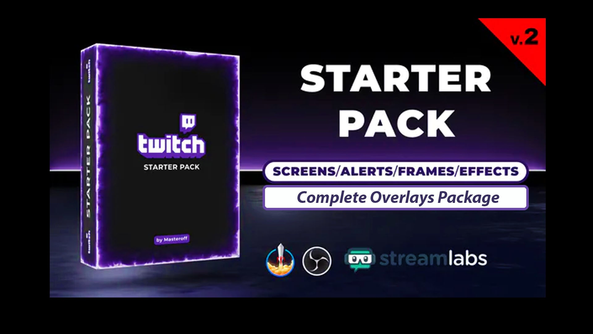 Twitch Animated Overlay Starting Soon Alerts Facecam Stream By Motionclub