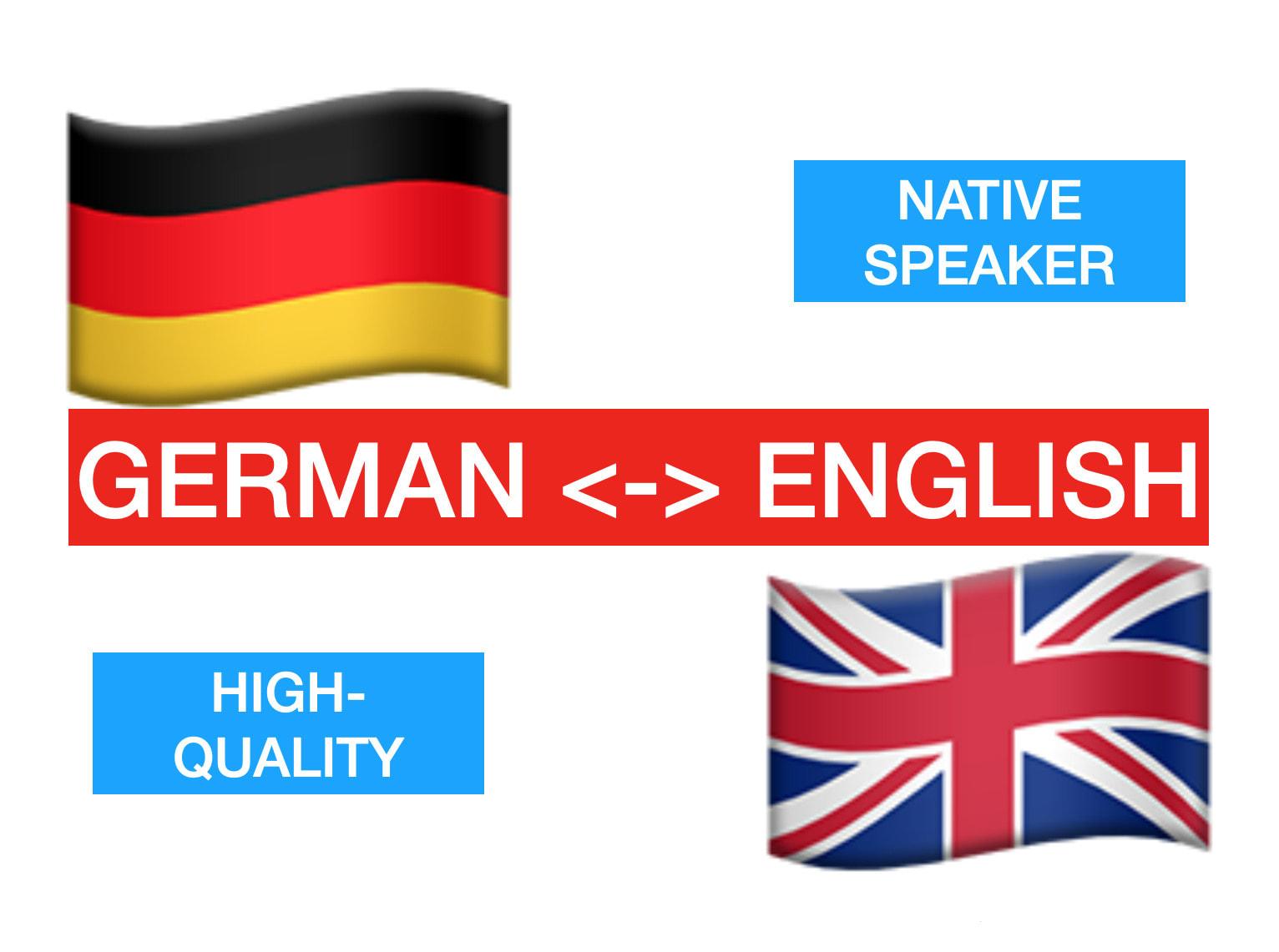 Translate anything english german translation by Charlieswork   Fiverr