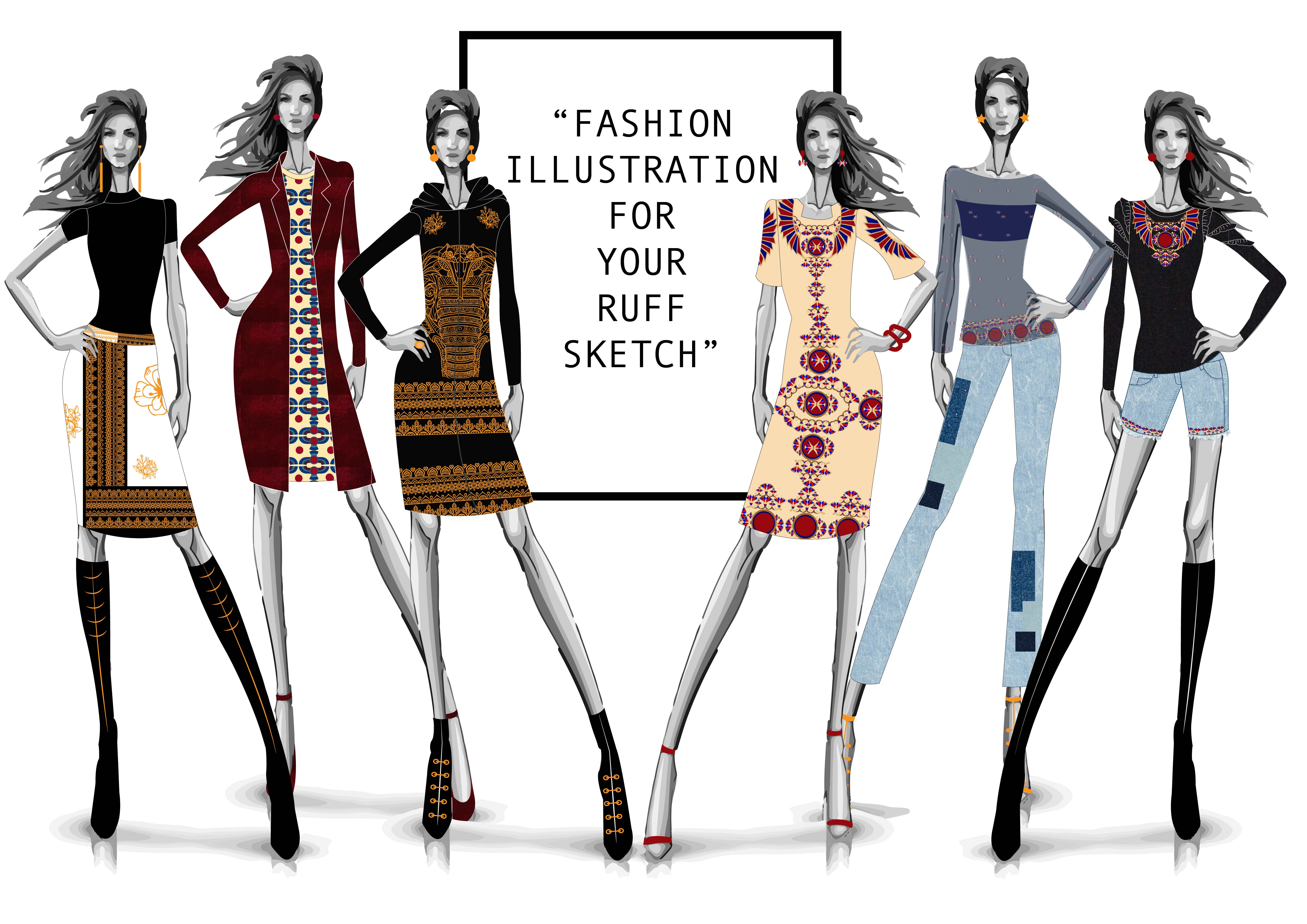 Draw Fashion Illustration Fashion Design For You Collection By Gsbdesign
