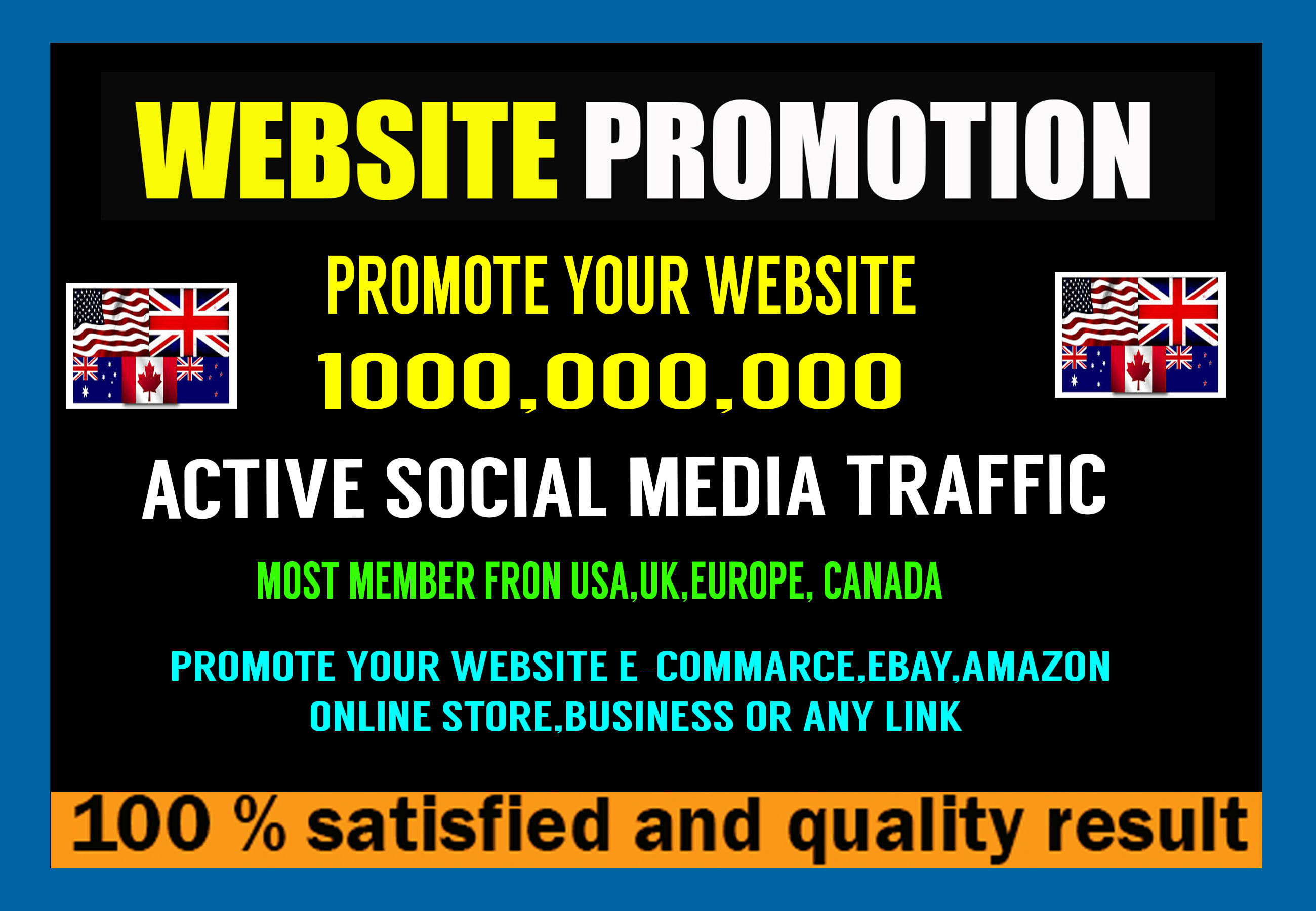 Promote Website Ecommerce Any Web To 100 Millions Social Media Platform By Tonydayes